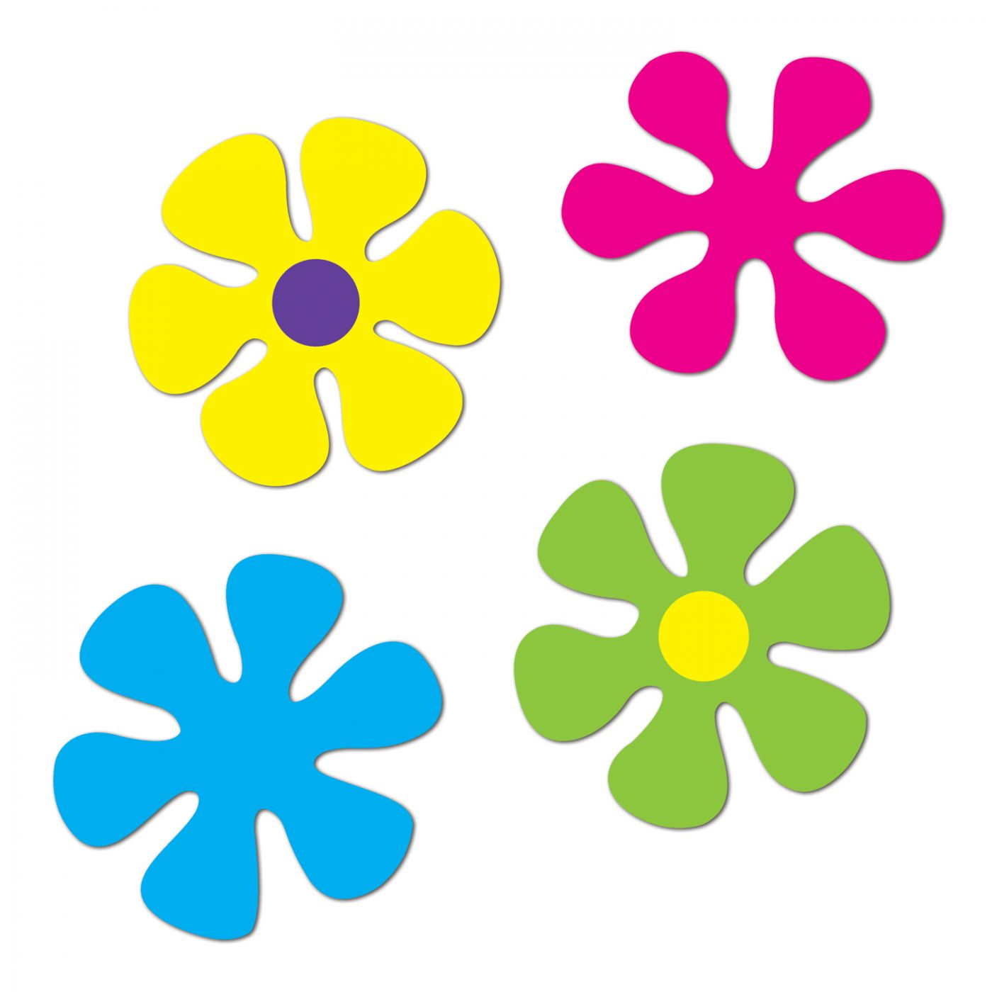 Retro Flower Cutouts image