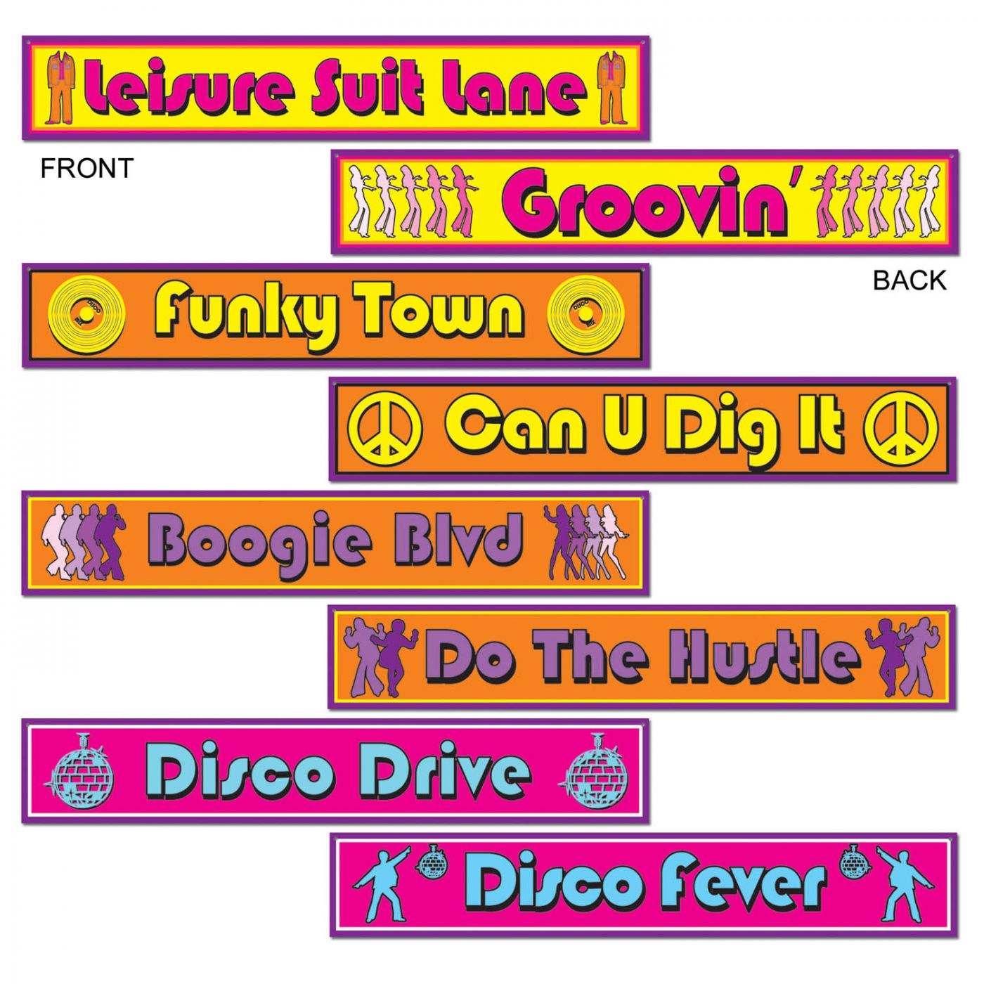 Disco Street Sign Cutouts image
