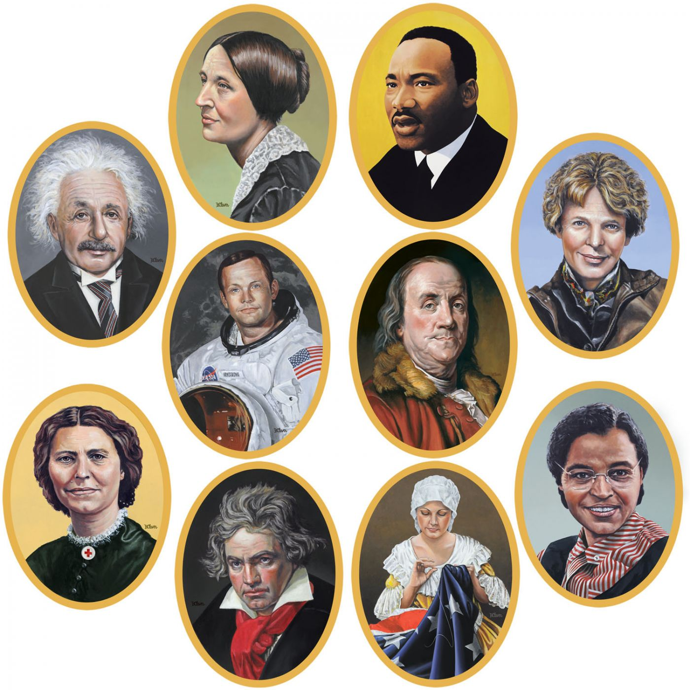 Faces In History Cutouts image