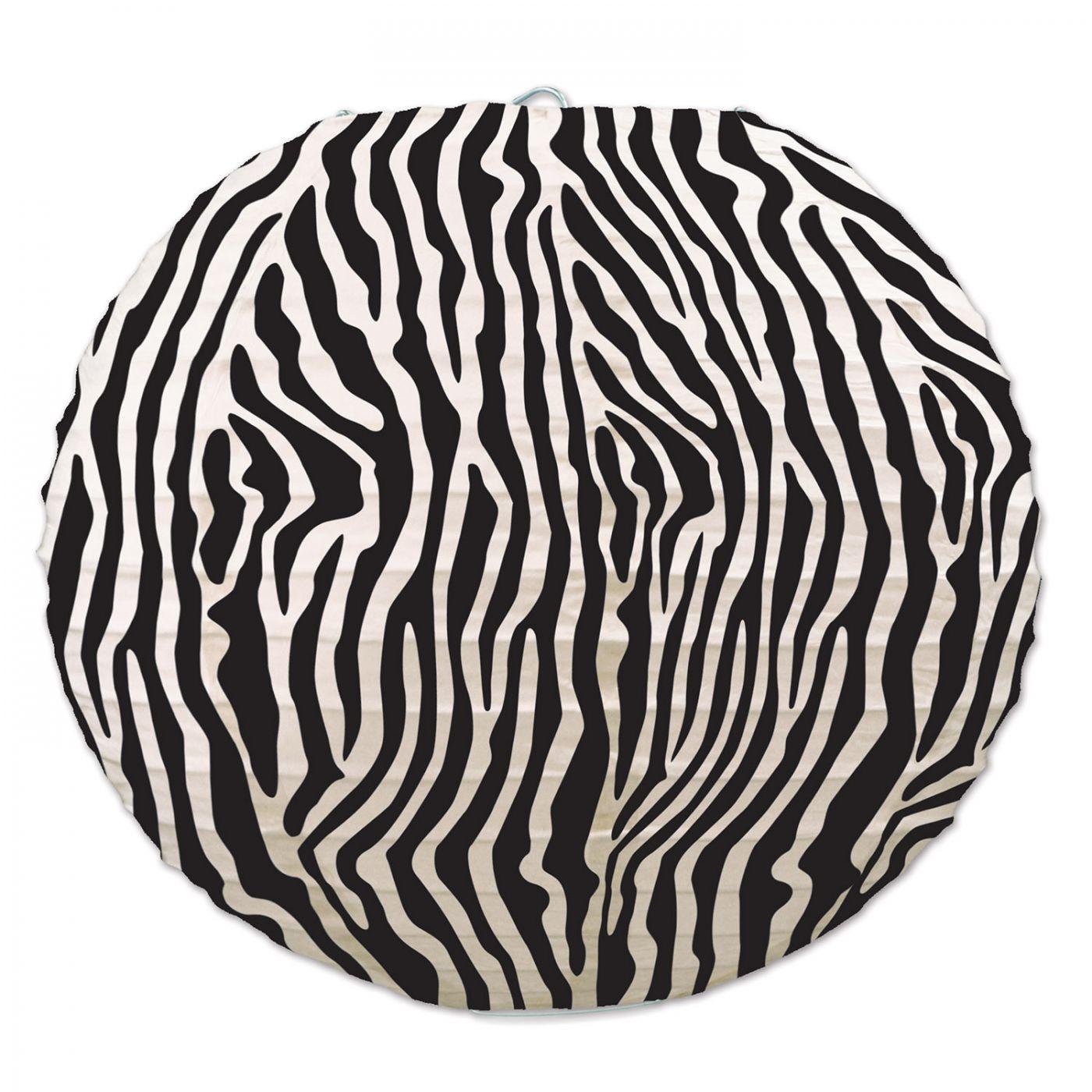 Zebra Print Paper Lanterns (6) image