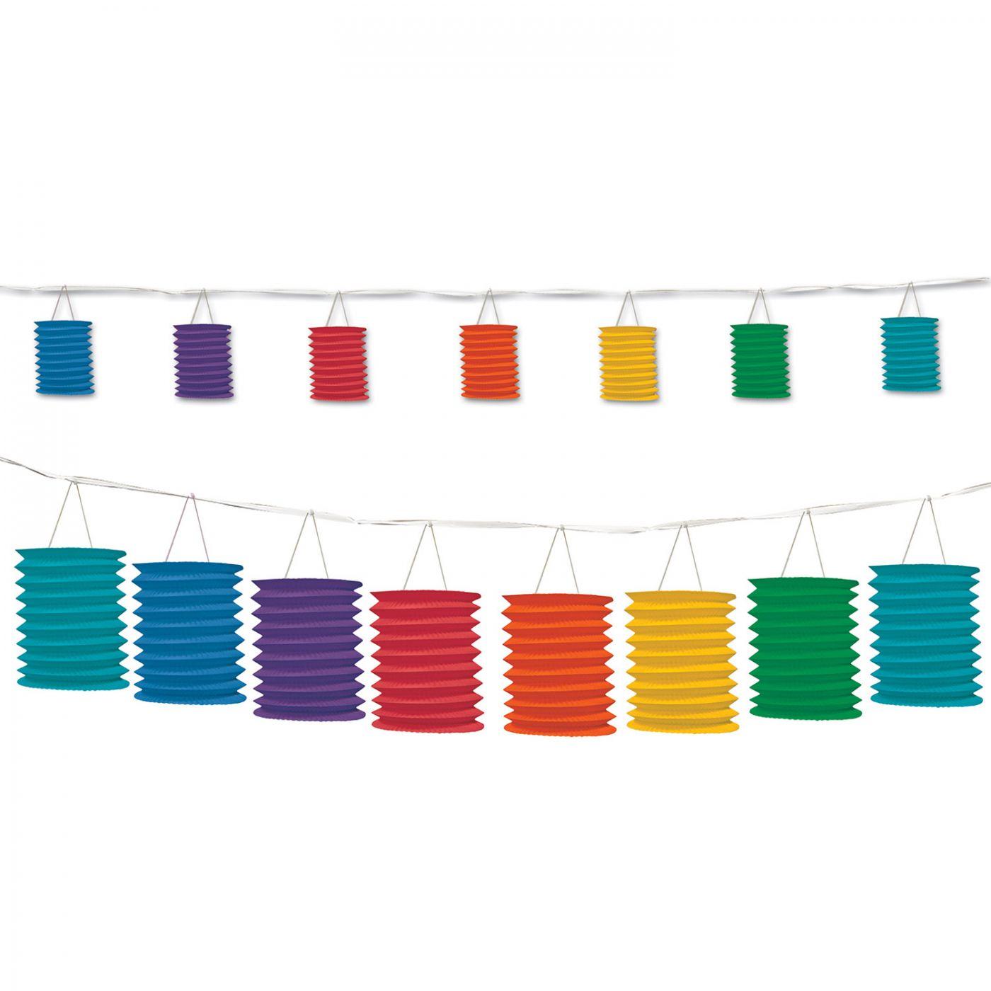 Rainbow Lantern Garland (6) image