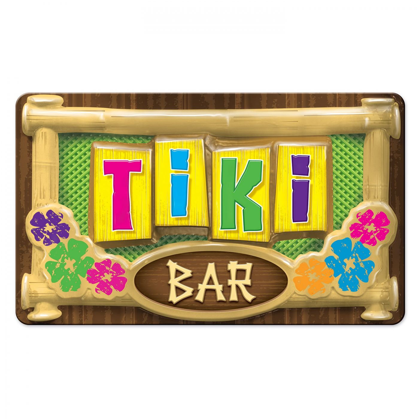 Image of 3-D Plastic Tiki Bar Sign (24)