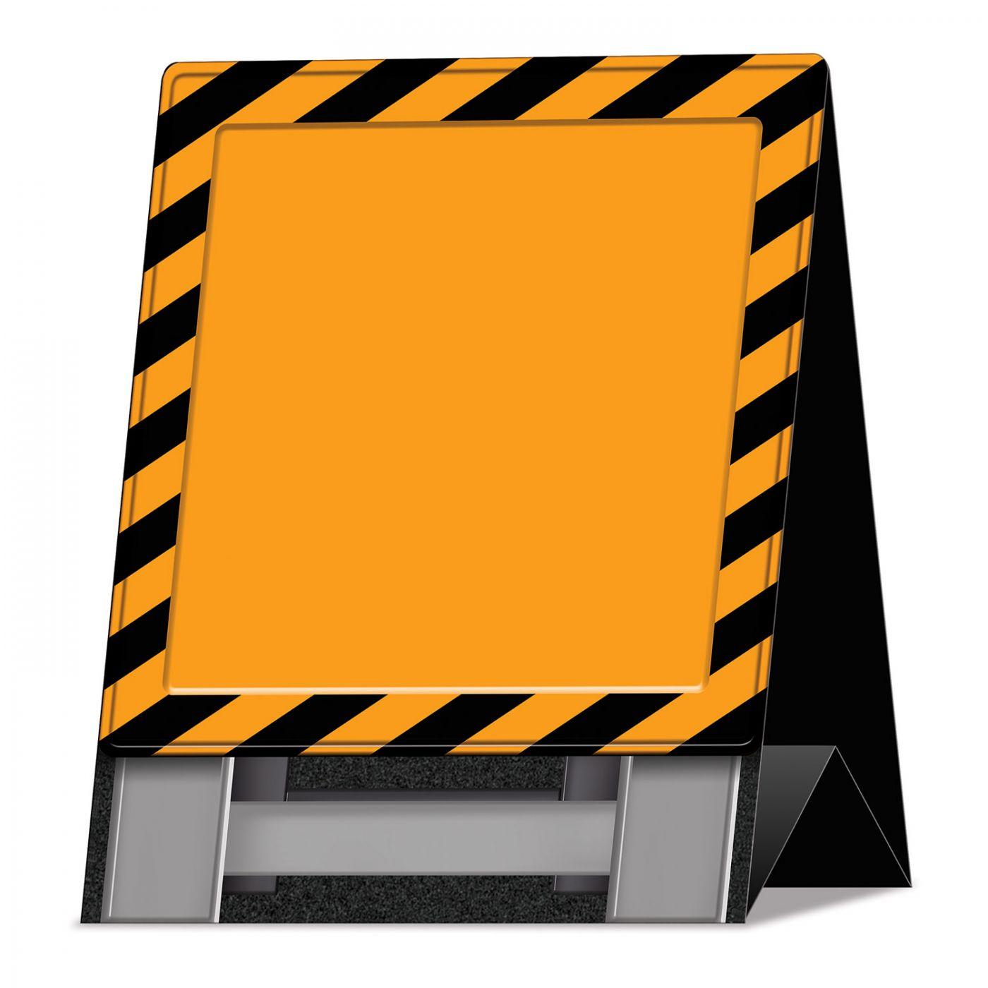 3-D Construction Barricade Centerpiece image