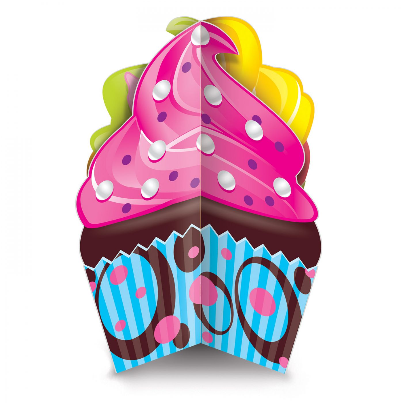 Image of 3-D Cupcake Centerpiece
