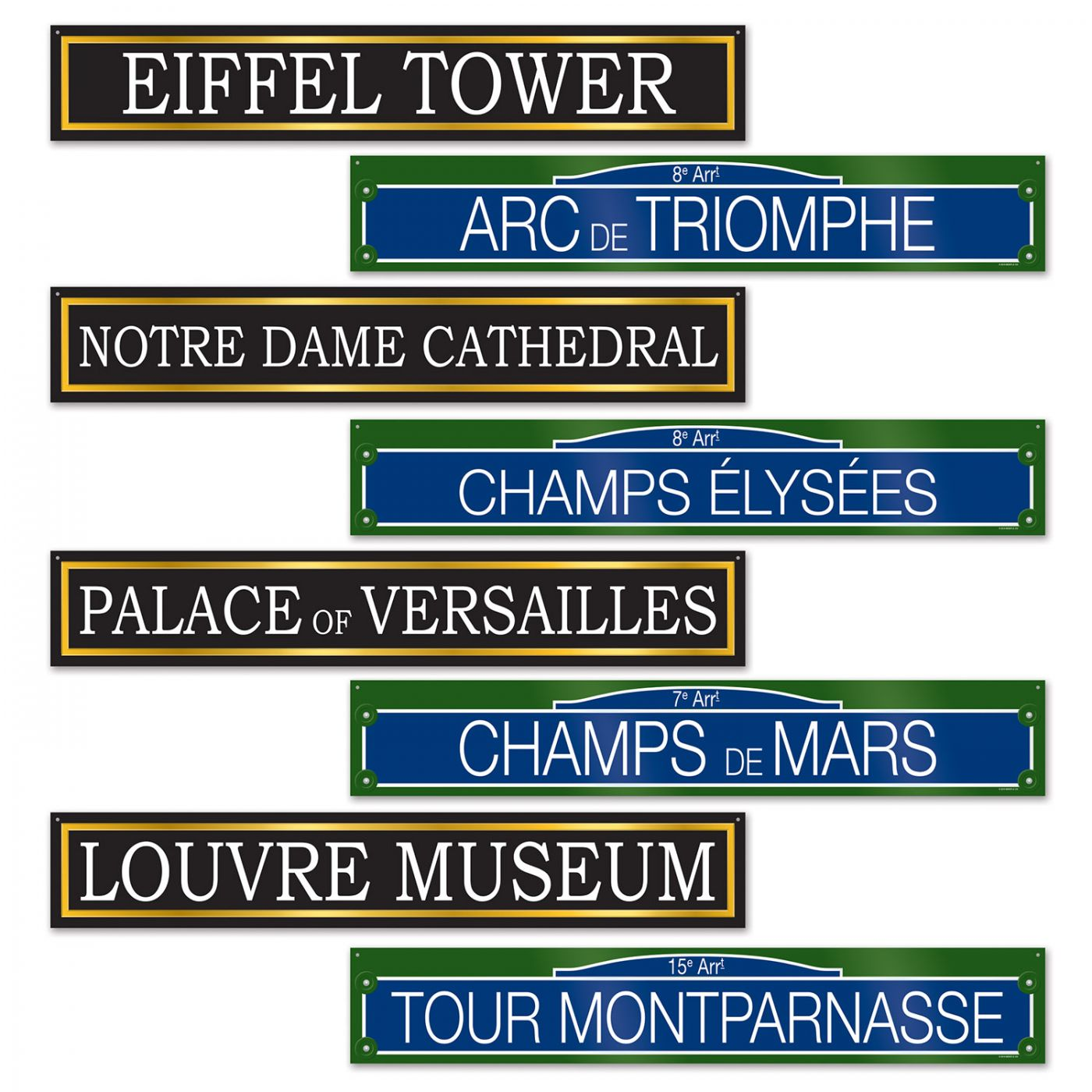 French Street Sign Cutouts image