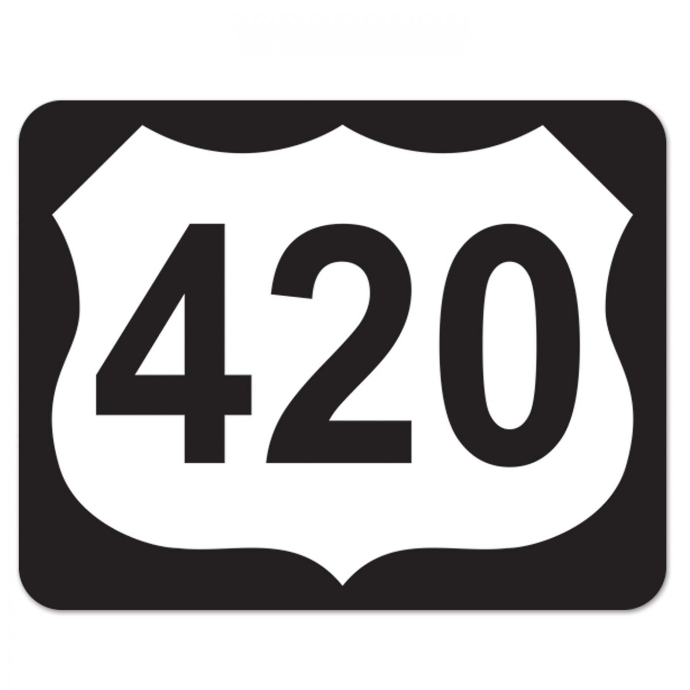 Image of 420 Highway Sign Cutout