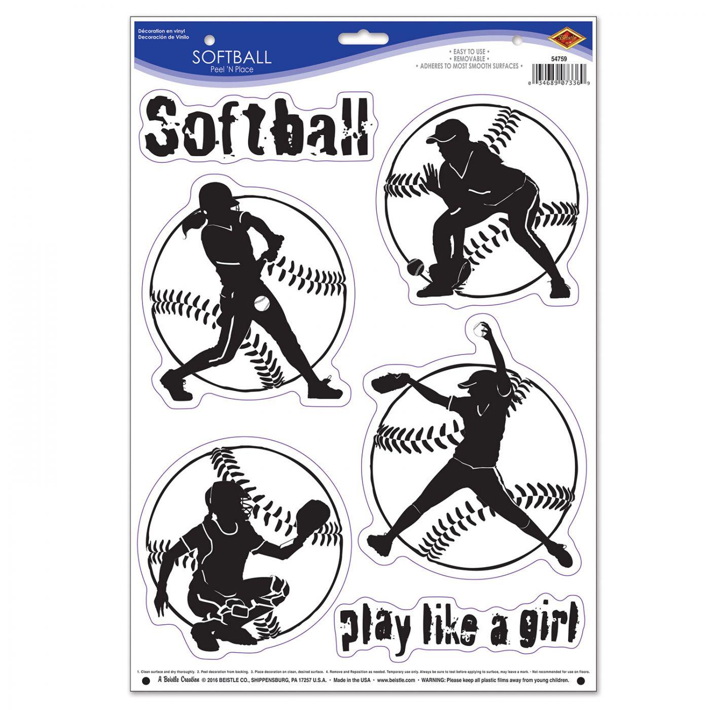 Softball Peel 'N Place image
