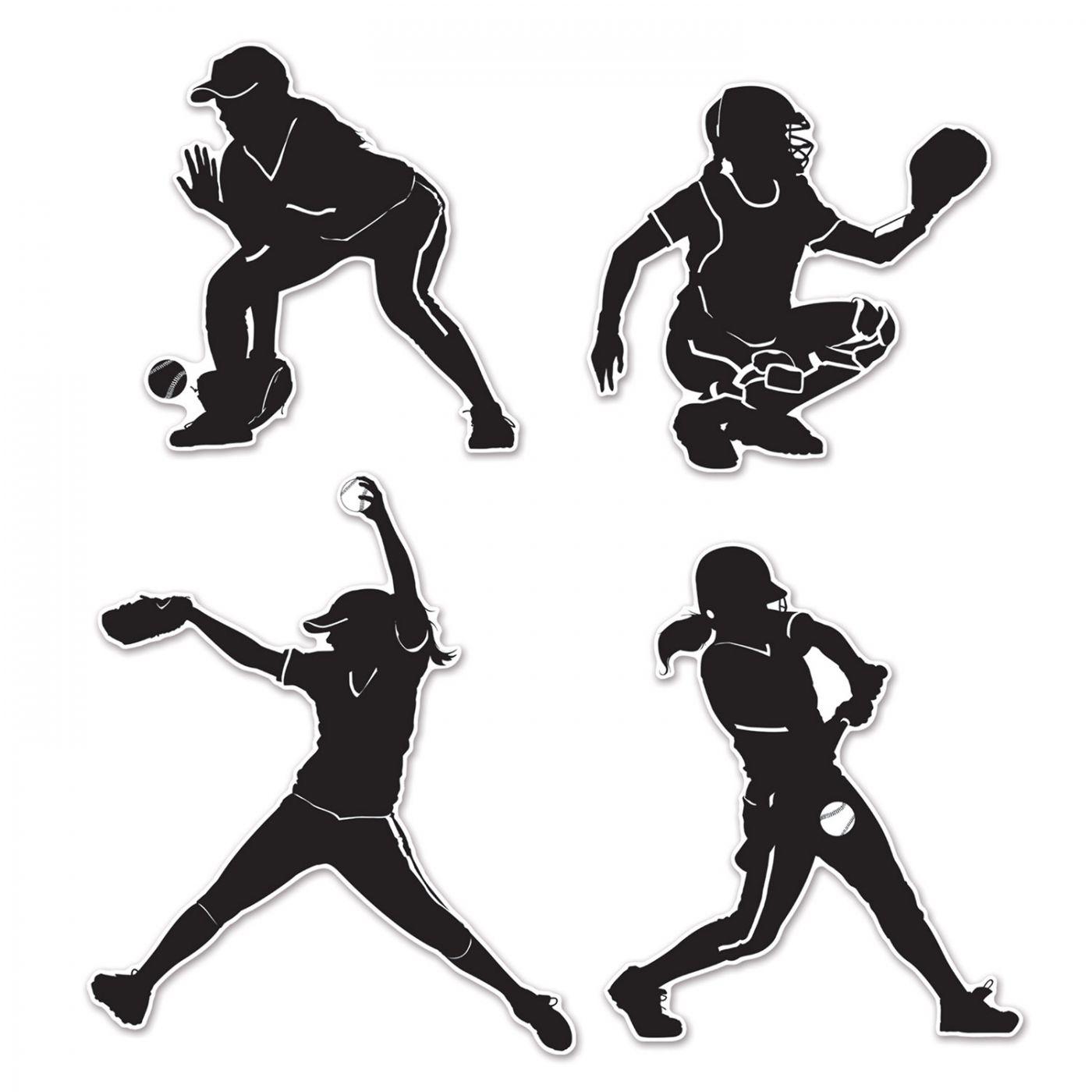 Softball Silhouettes image