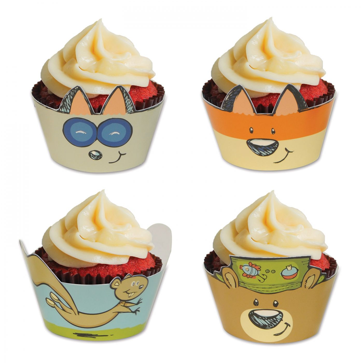 Woodland Friends Cupcake Wrappers image