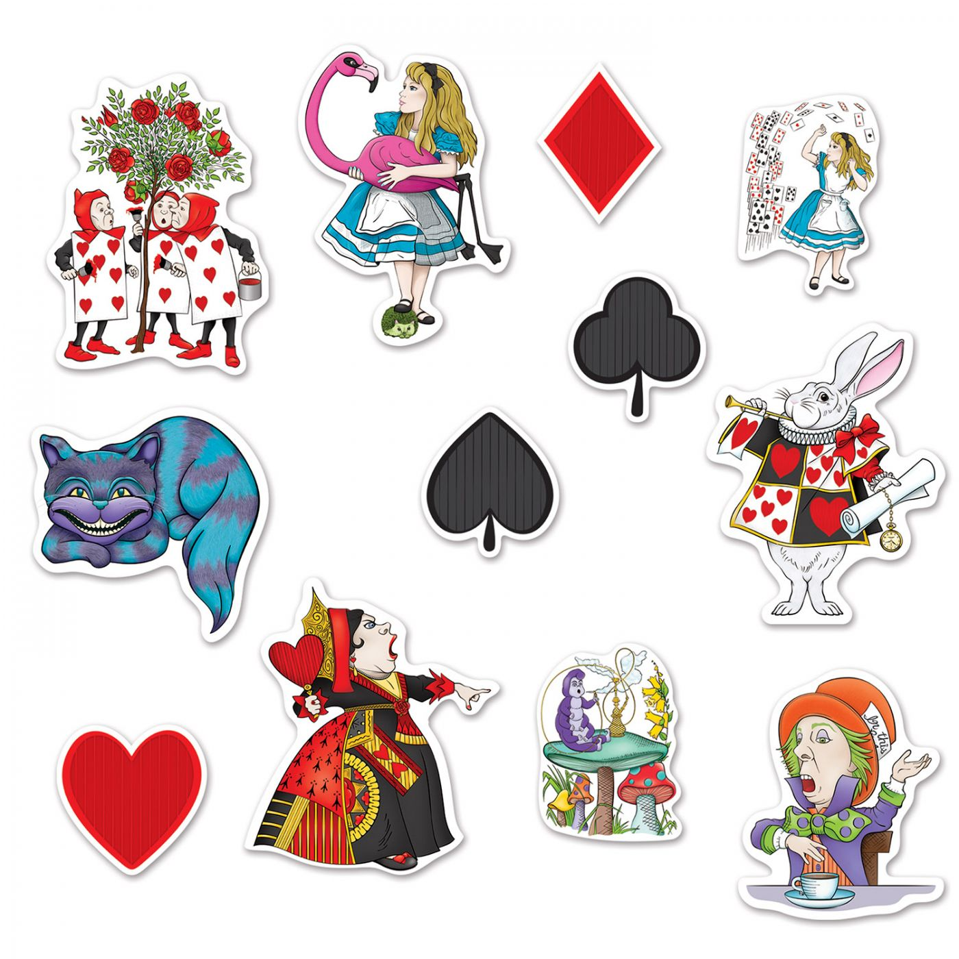 Alice In Wonderland Cutouts image