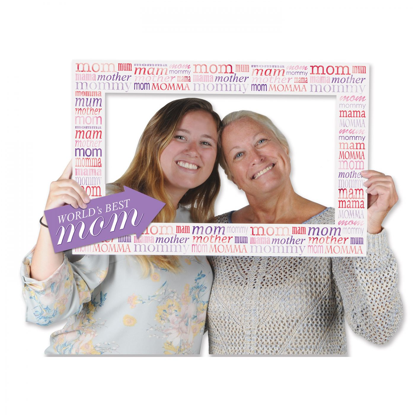 Aahs Engraving Worlds Best Mom Party Photo Frame Prop 35 X 30 inches