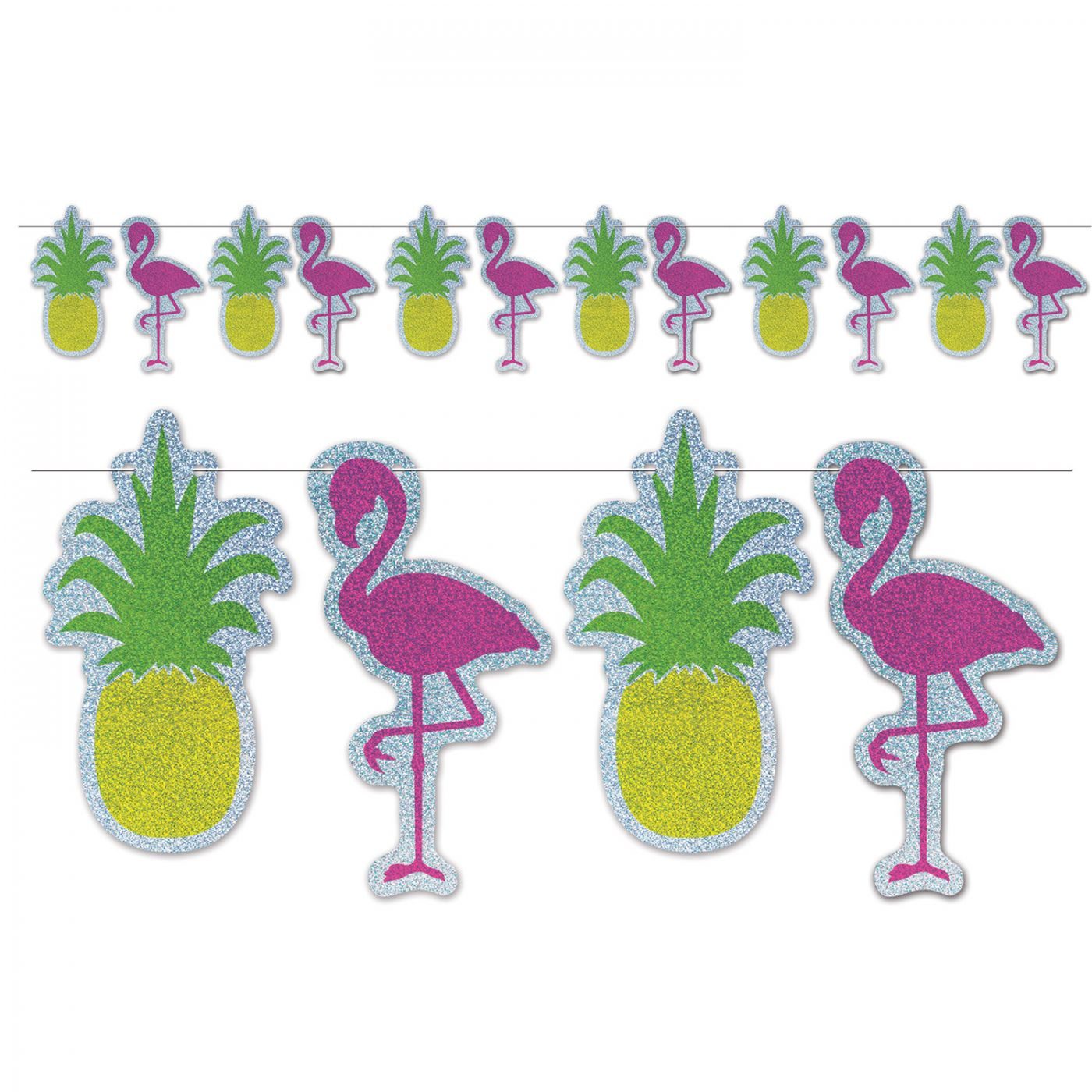 Flamingo & Pineapple Streamer image