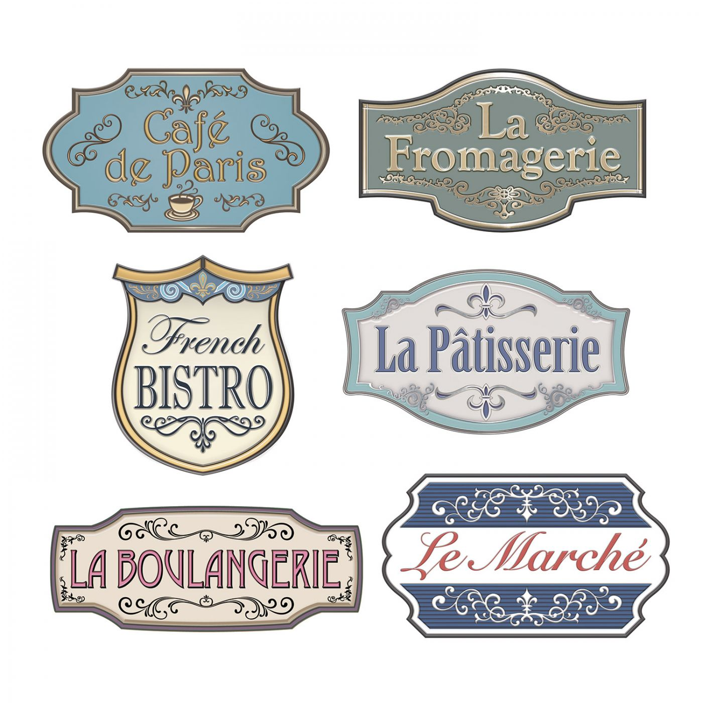 French Shop Sign Cutouts image