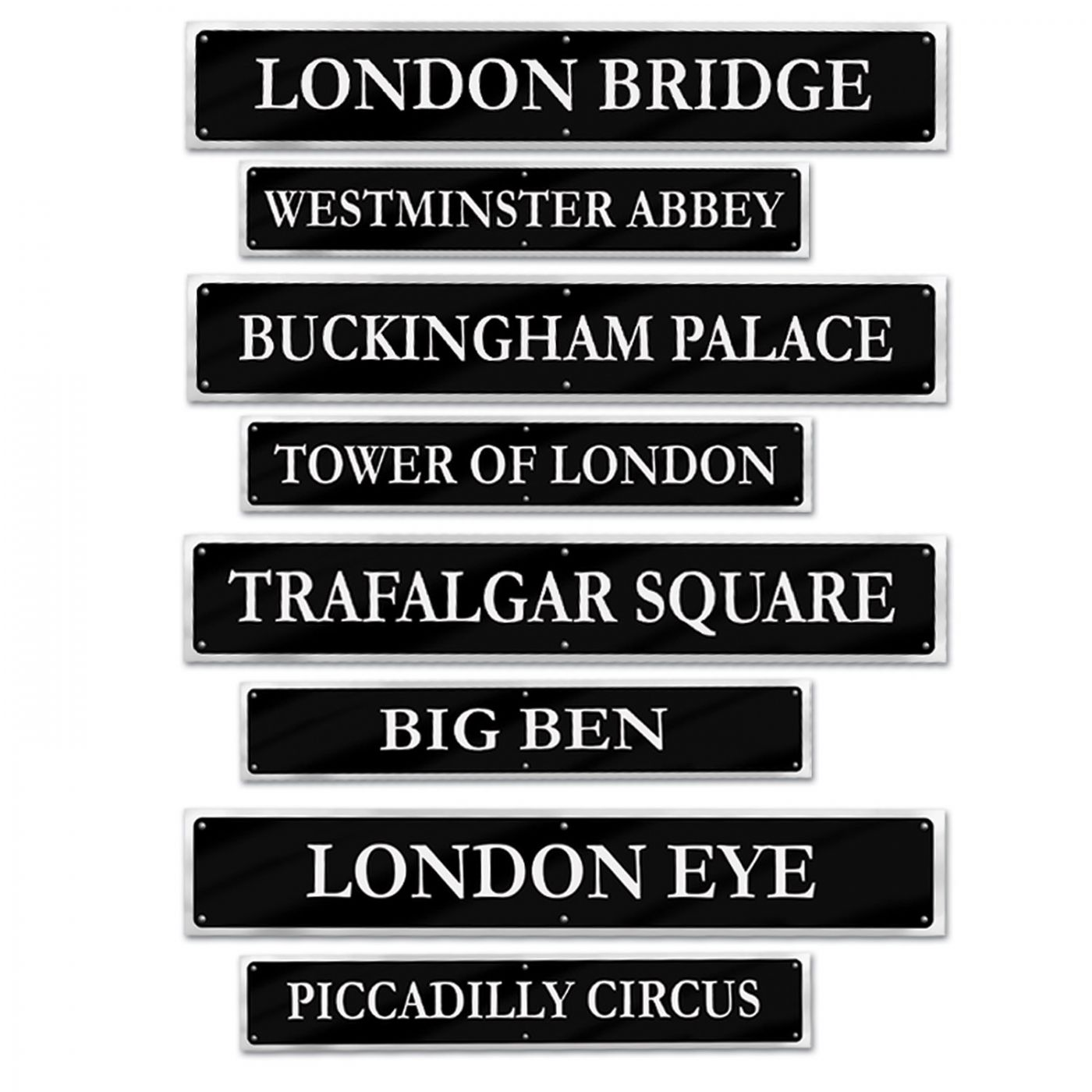 British Street Sign Cutouts image