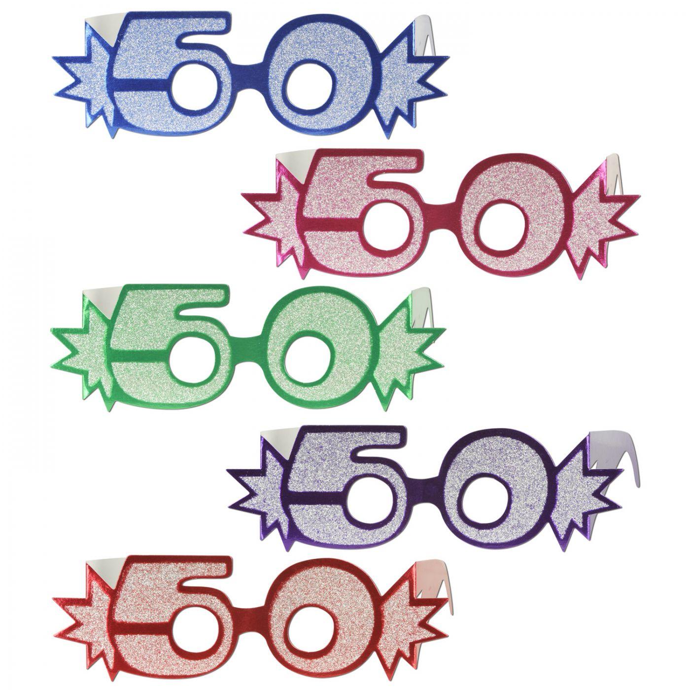 50  Glittered Foil Eyeglasses (25) image