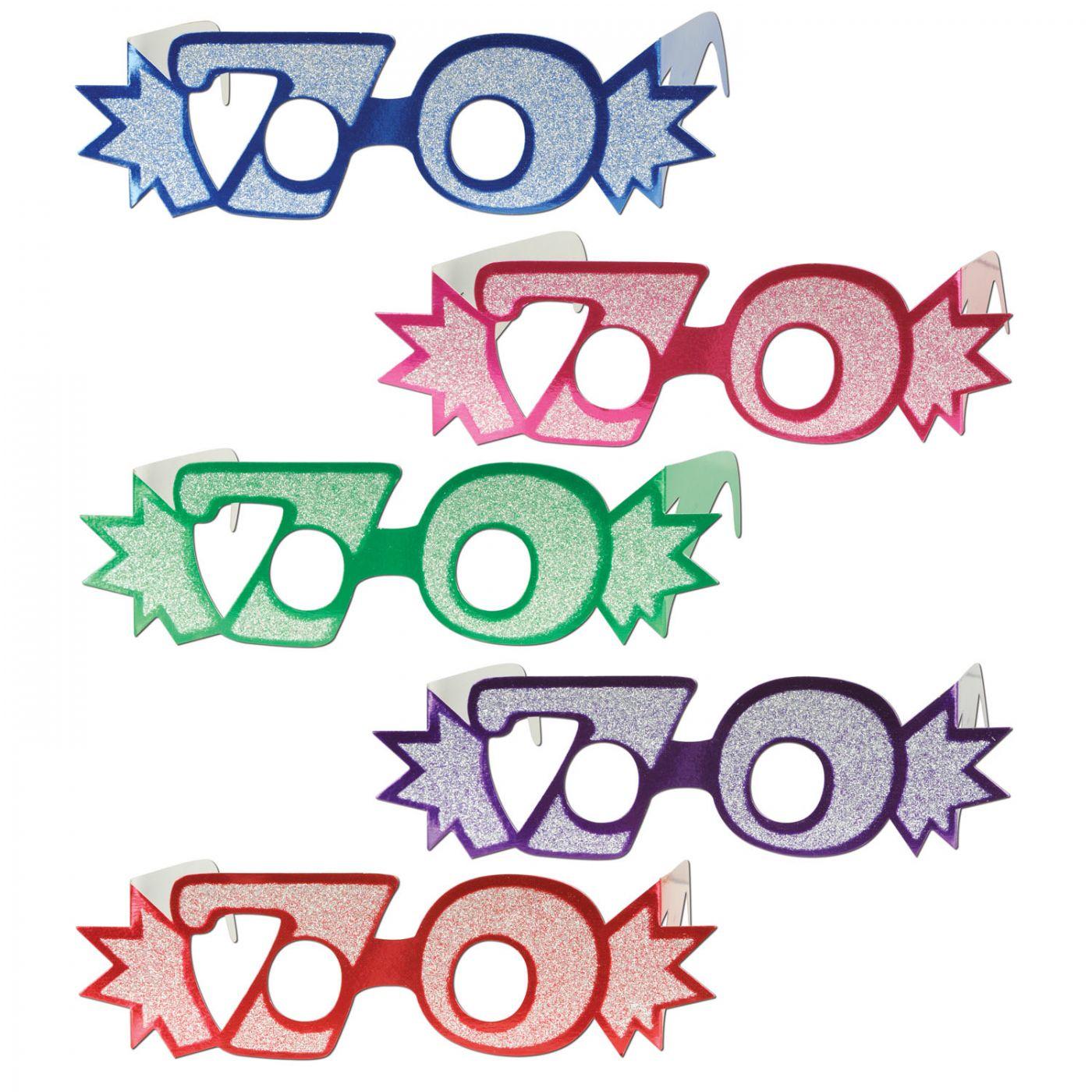 Image of  70  Glittered Foil Eyeglasses (25)