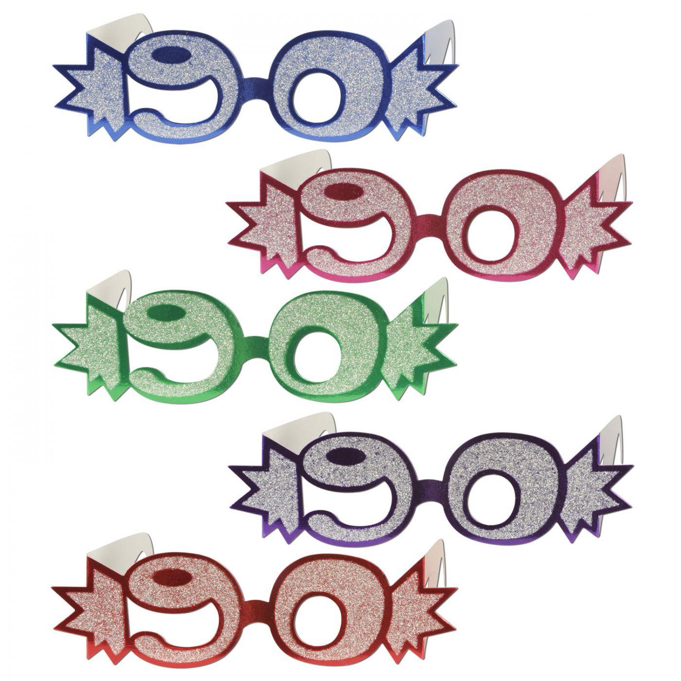 Image of  90  Glittered Foil Eyeglasses (25)