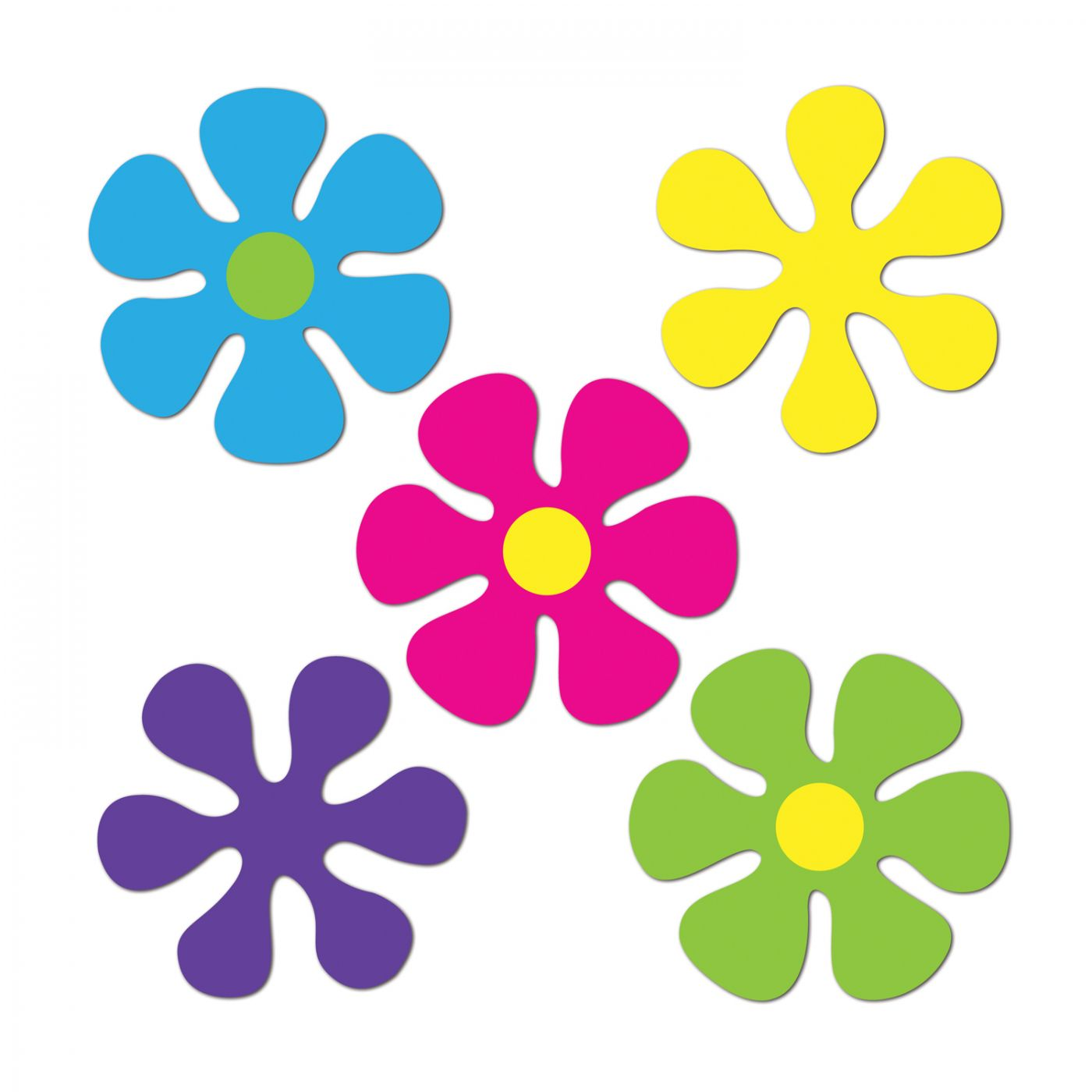 Mini Retro Flower Cutouts (24) image