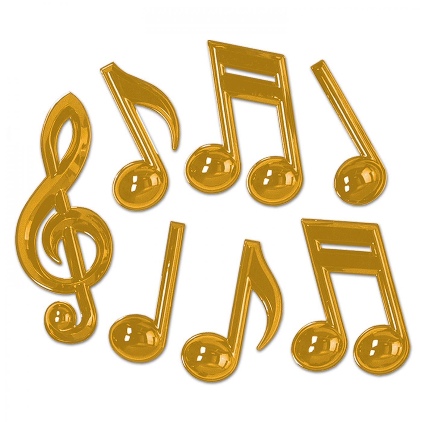 Gold Plastic Musical Notes image