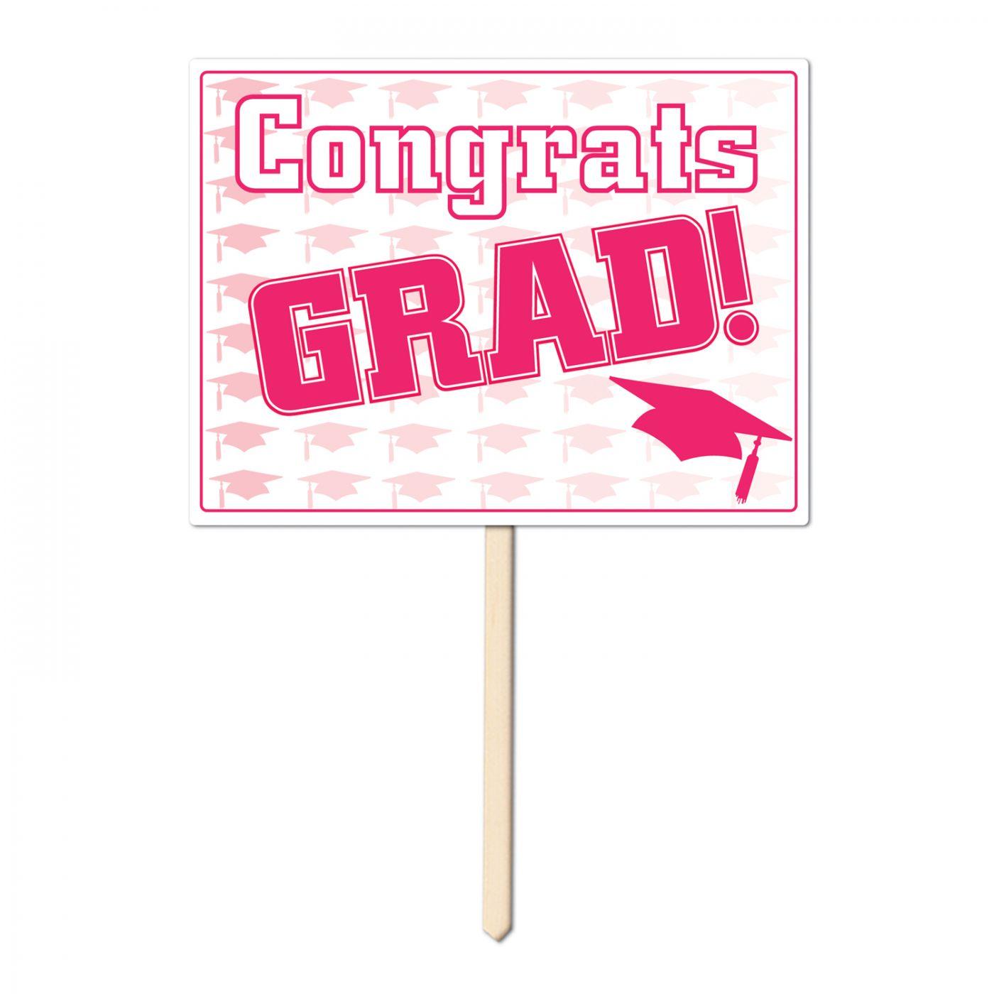 Plastic Congrats Grad Yard Sign (6) image