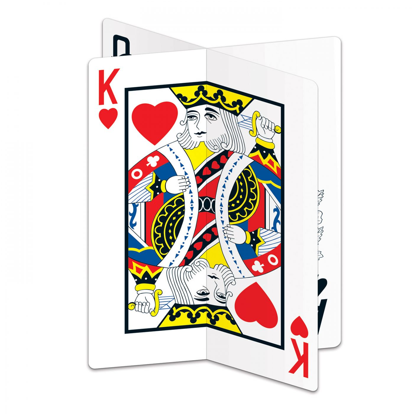 Image of 3-D Playing Card Centerpiece
