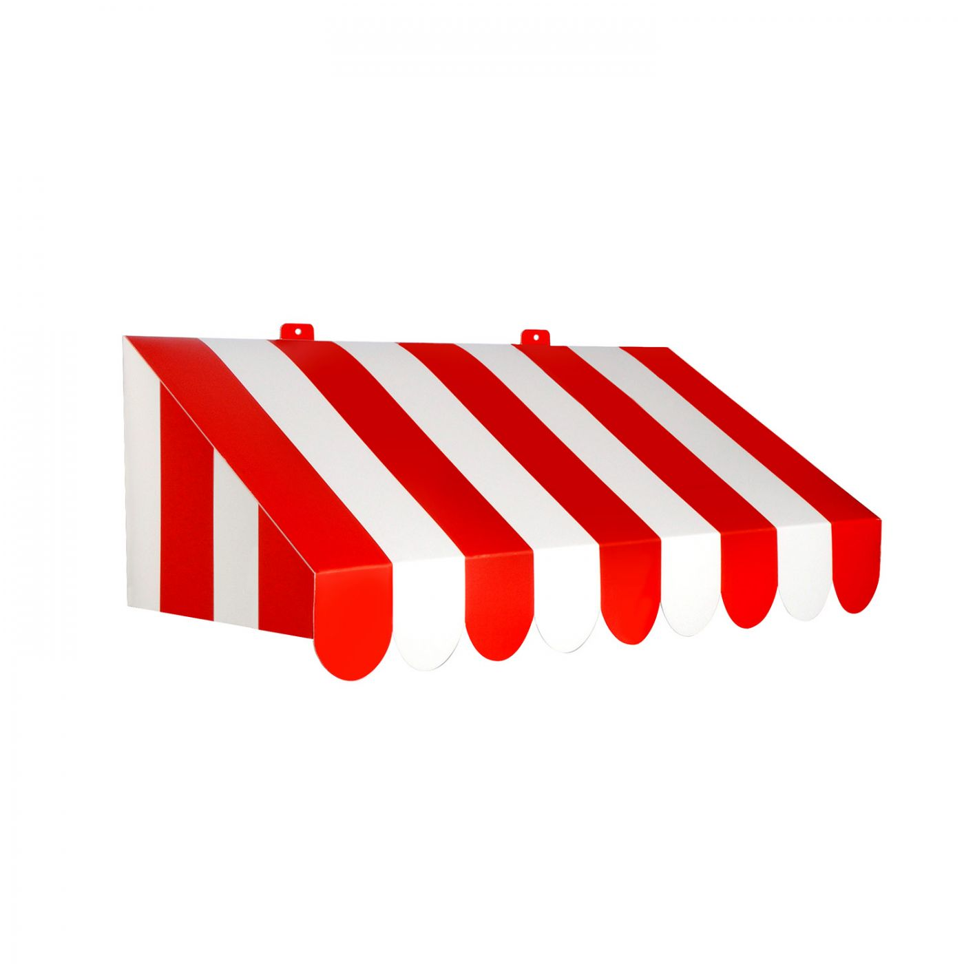 3-D Red & White Awning Wall Decoration (6) image