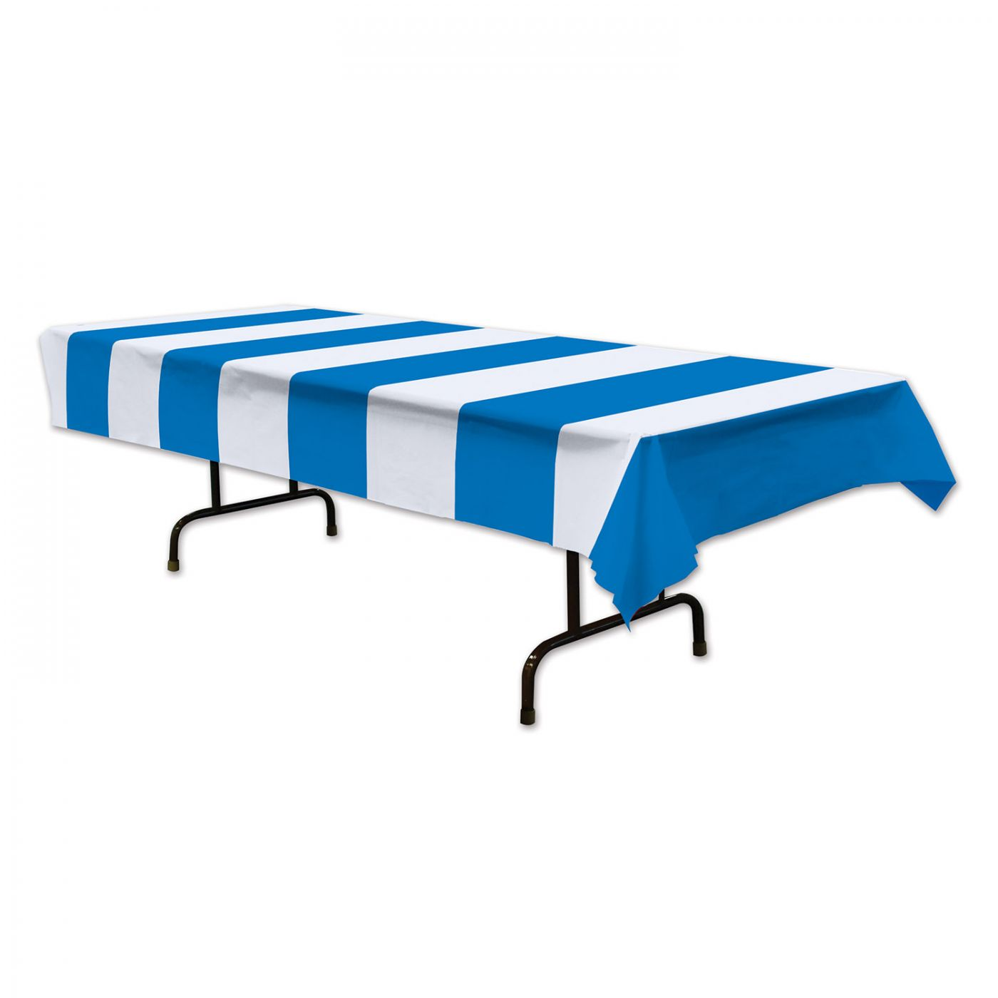 Image of Blue & White Stripes Tablecover