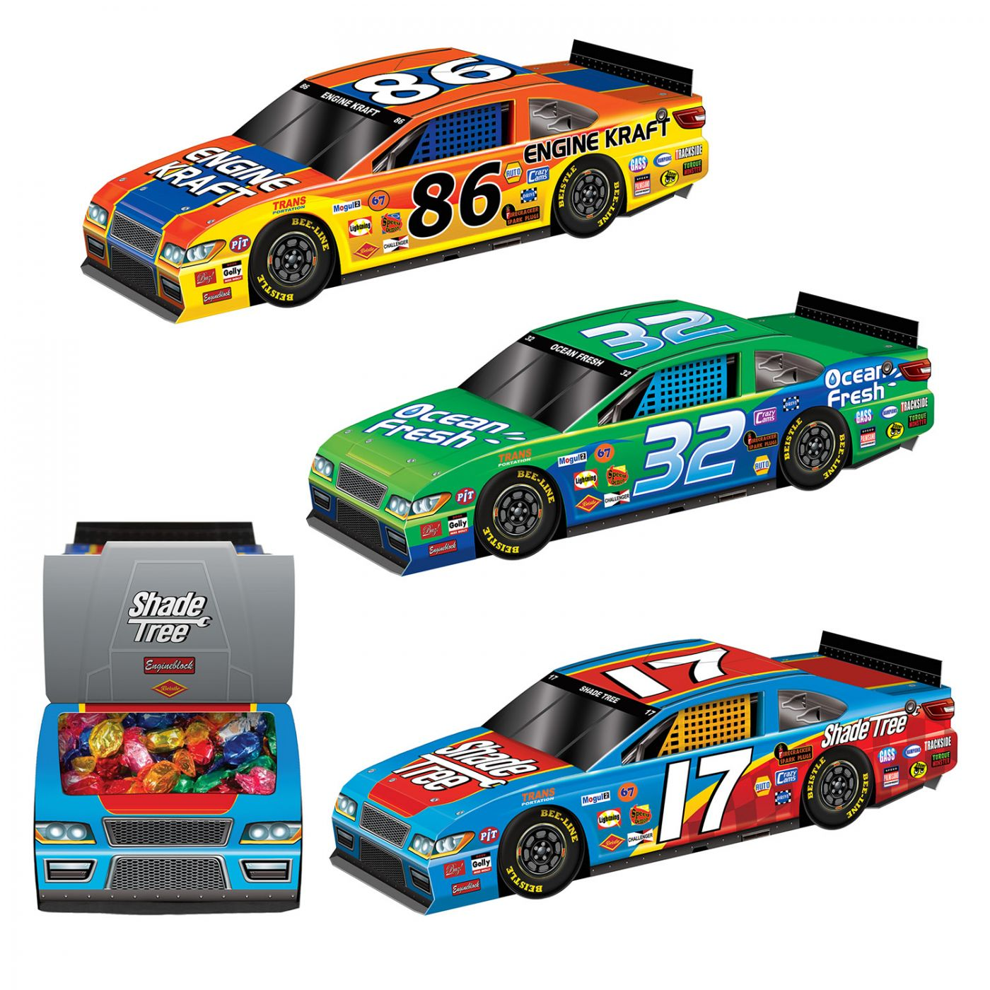 Image of 3-D Race Car Centerpieces