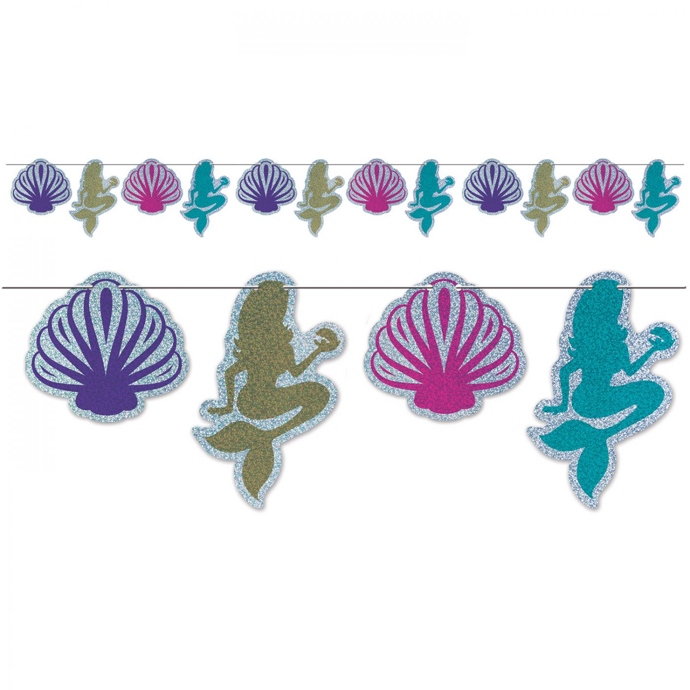 Mermaid & Seashell Streamer image