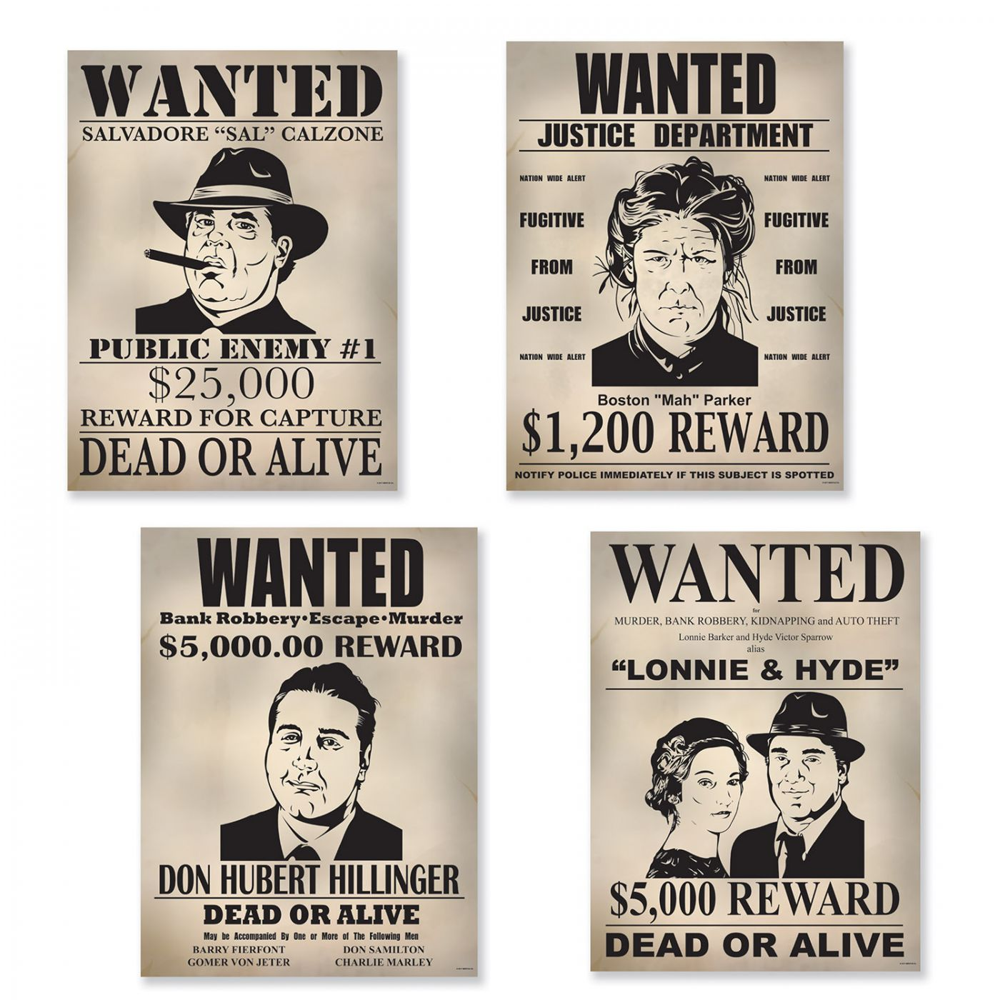 Gangster Wanted Sign Cutouts image