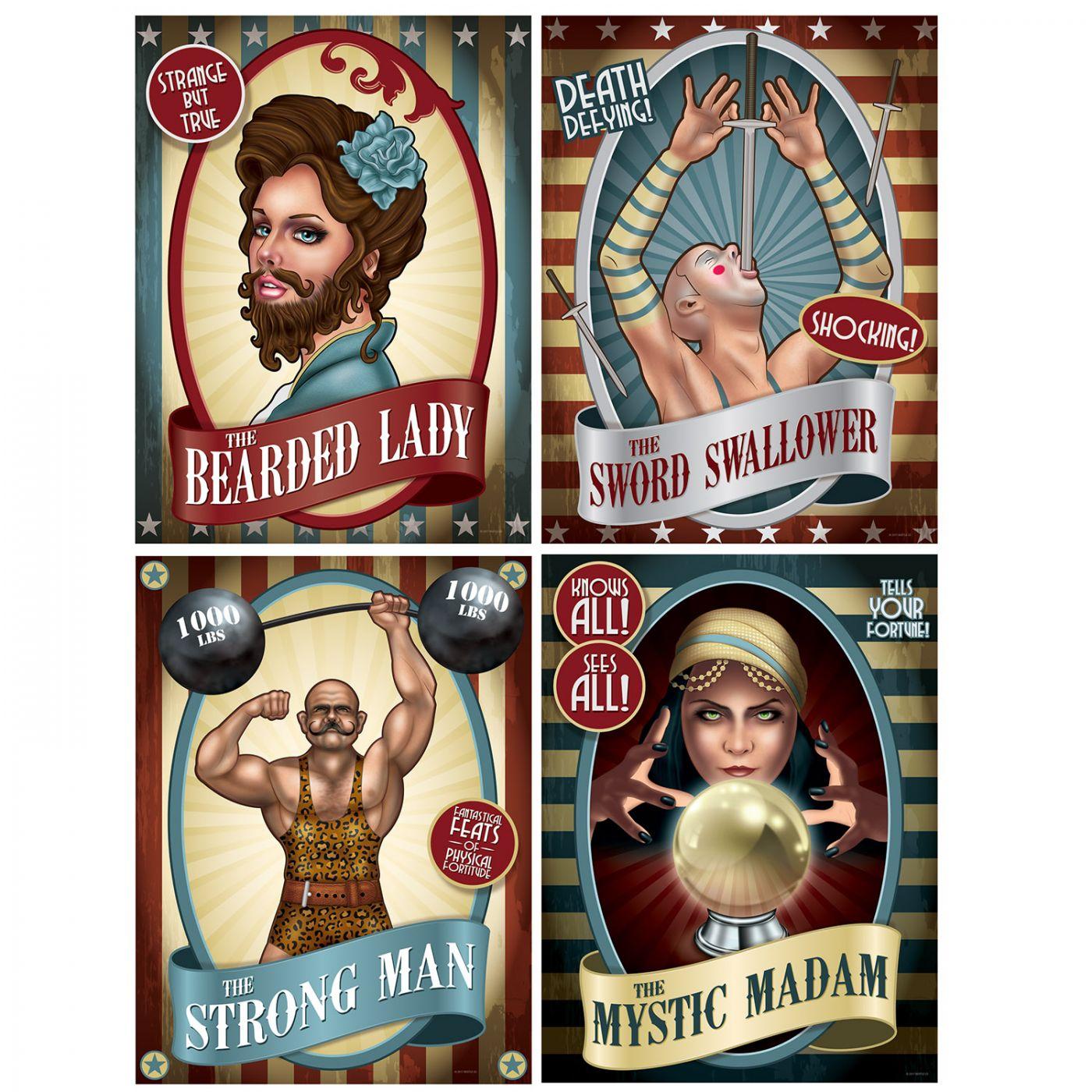 Vintage Circus Poster Cutouts image