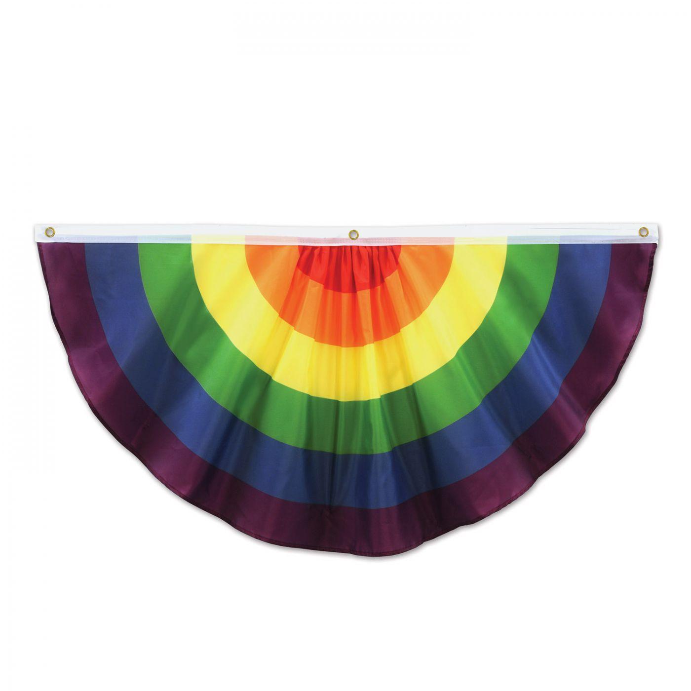 Rainbow Fabric Bunting (6) image