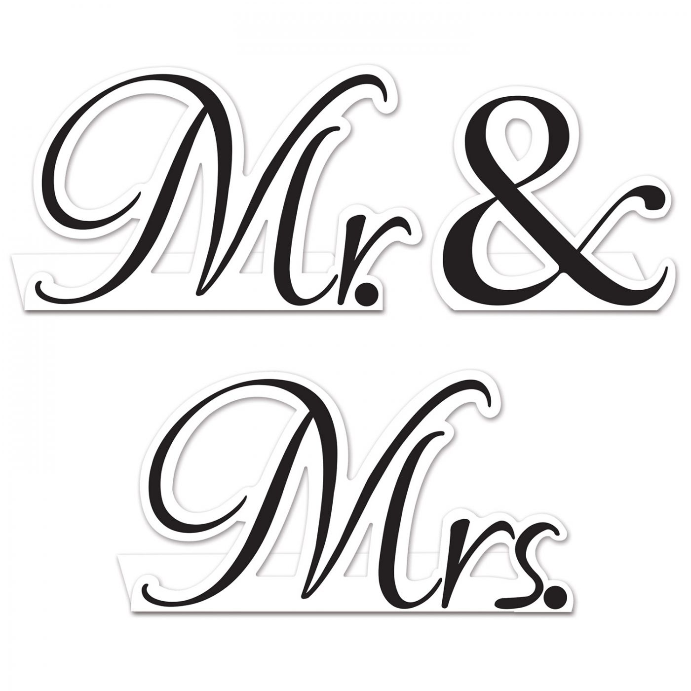 Mr. & Mrs. Table Cards image