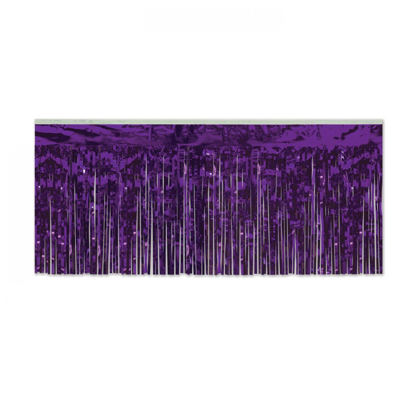 Pkgd 1-Ply FR Metallic Fringe Drape (6) image