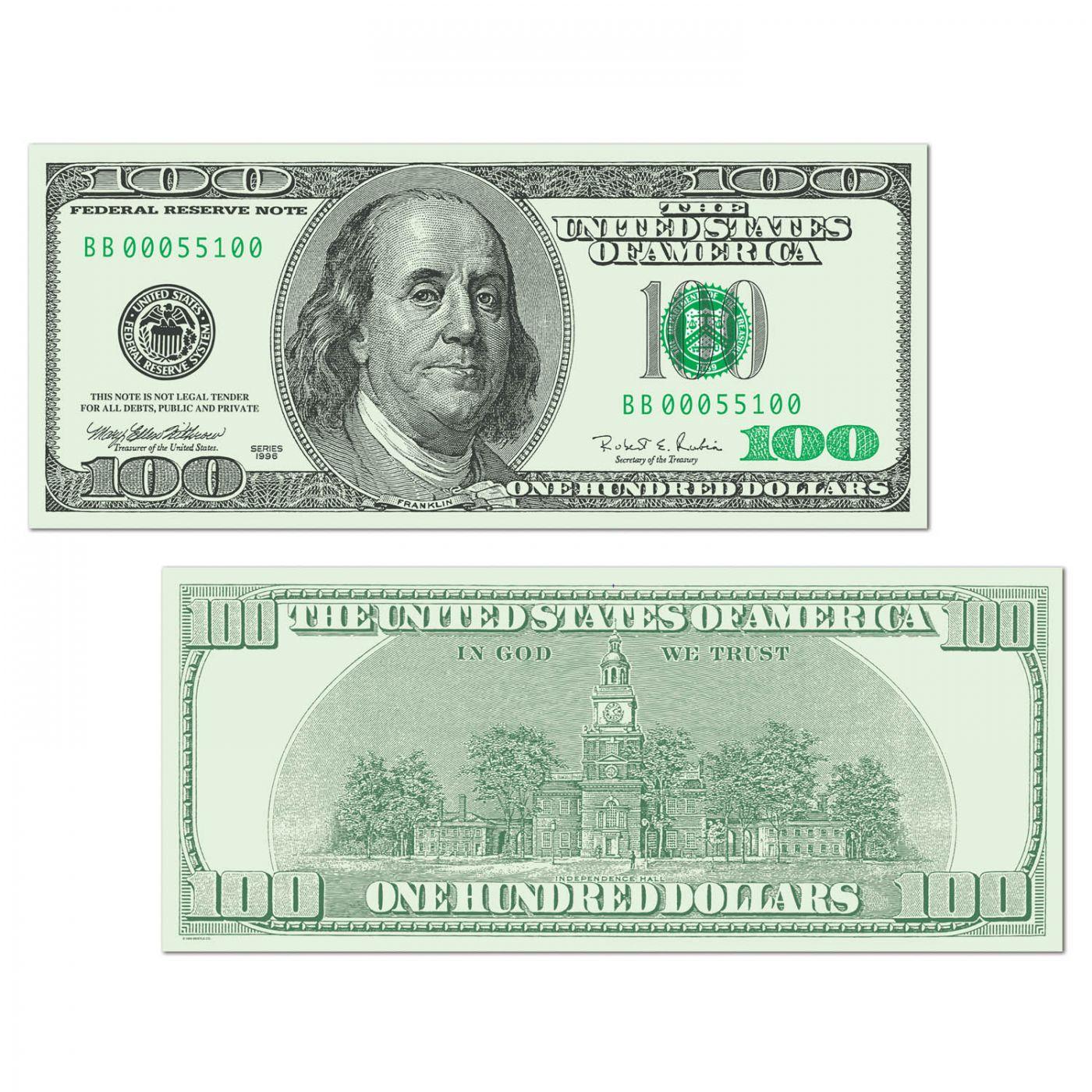 Image of Big Bucks Cutout $100 Bill (24)