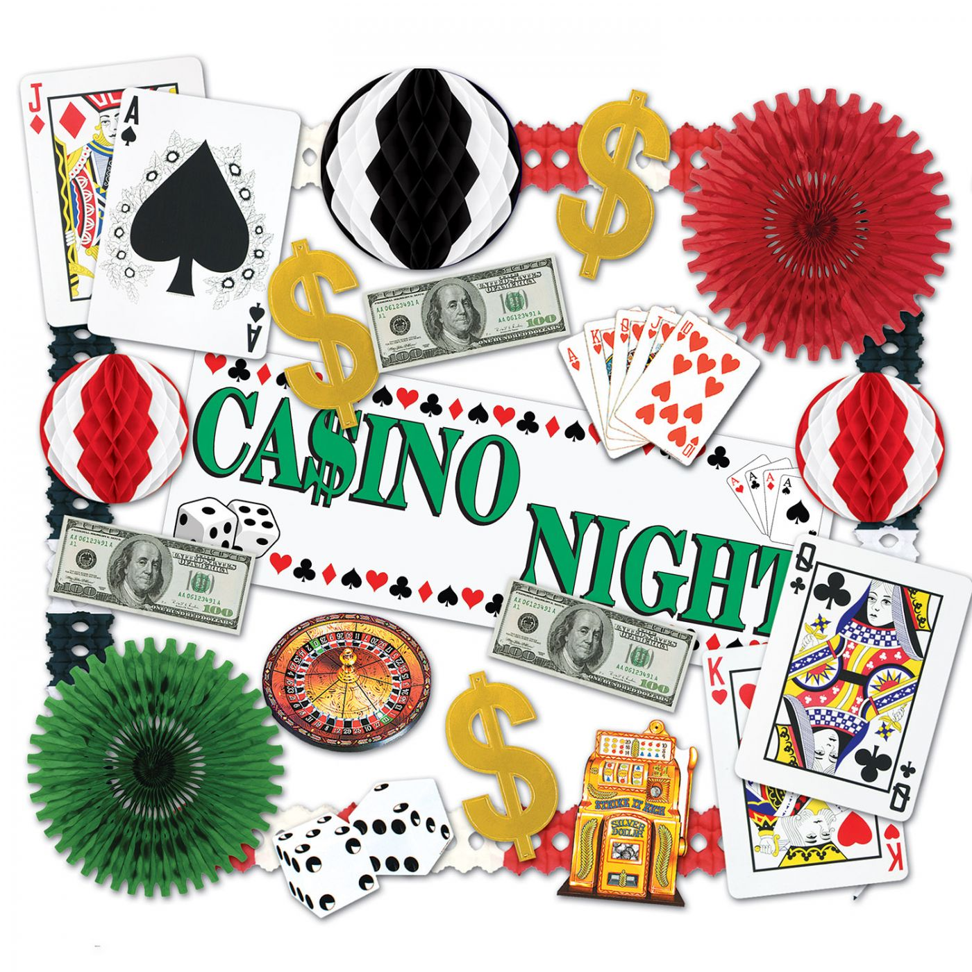 Image of Casino Decorating Kit - 24 Pcs (1)