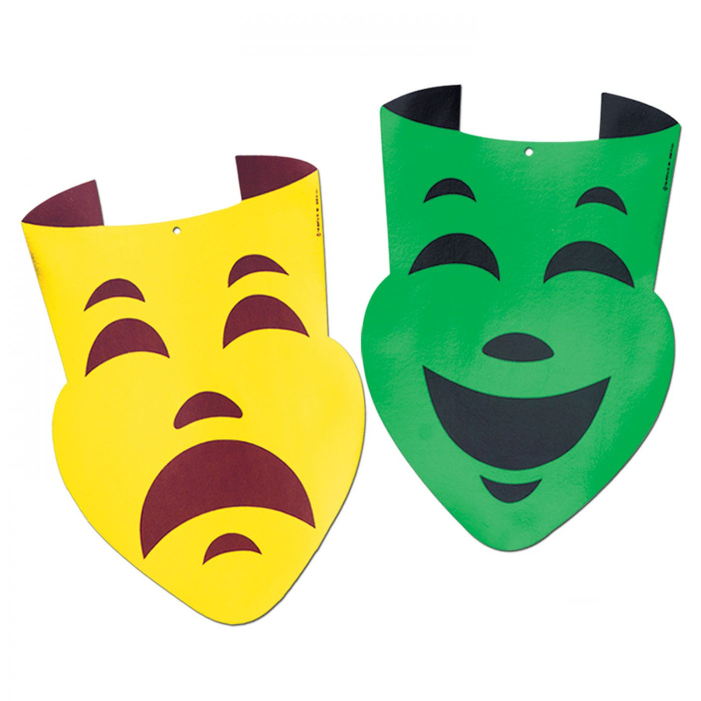Foil Comedy & Tragedy Face Cutouts (24) image