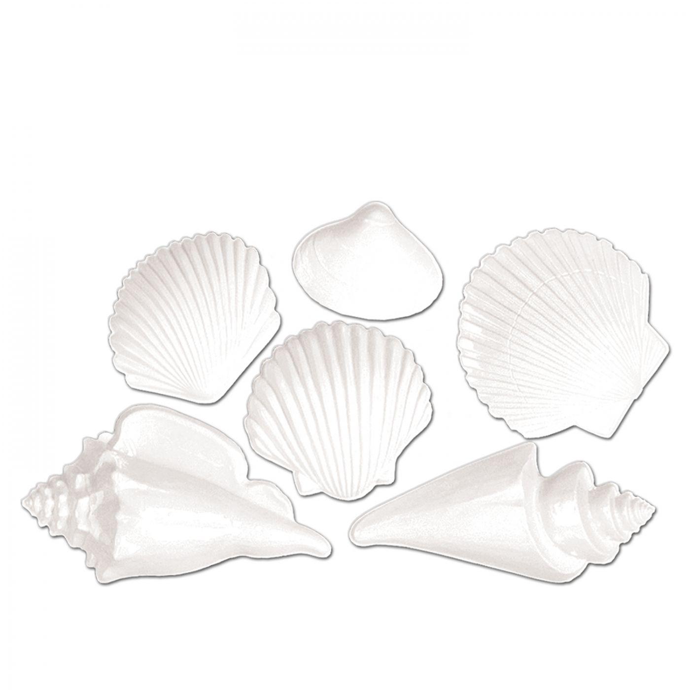 White Plastic Seashells image