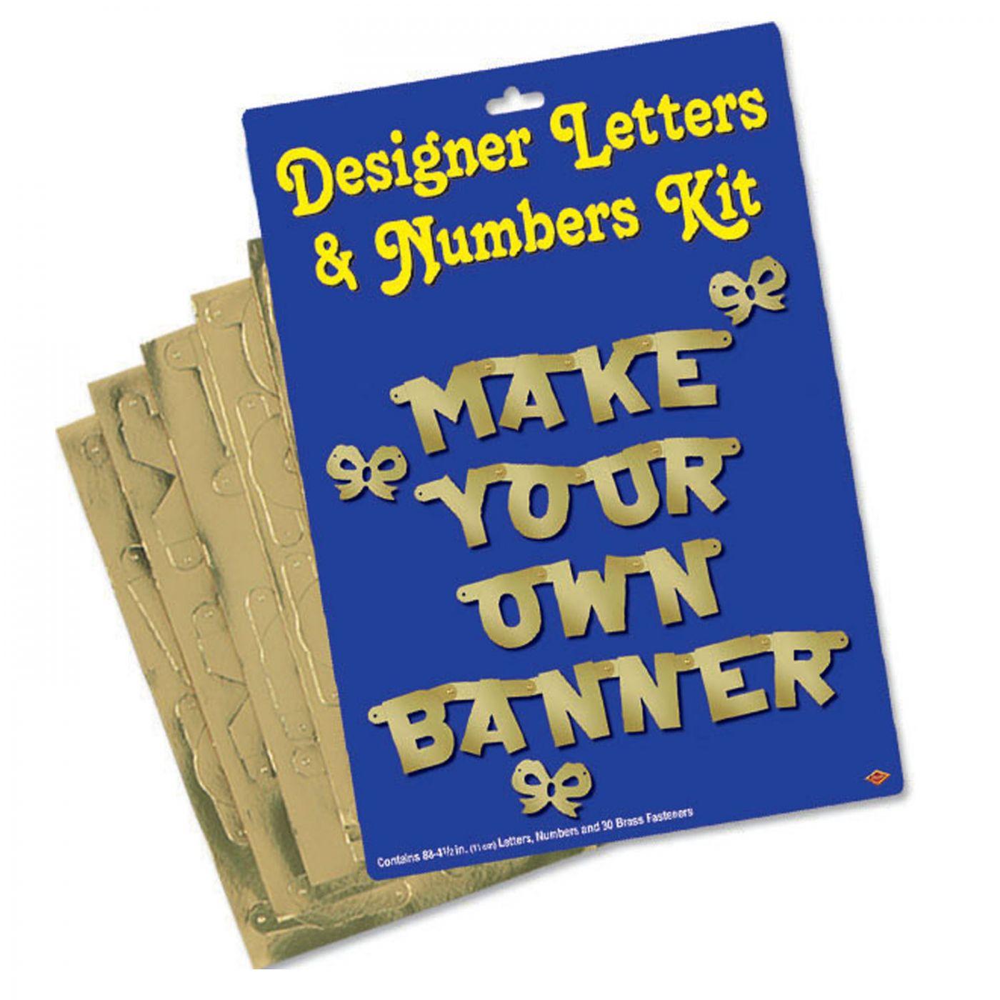 Designer Letters & Numbers Kit (6) image