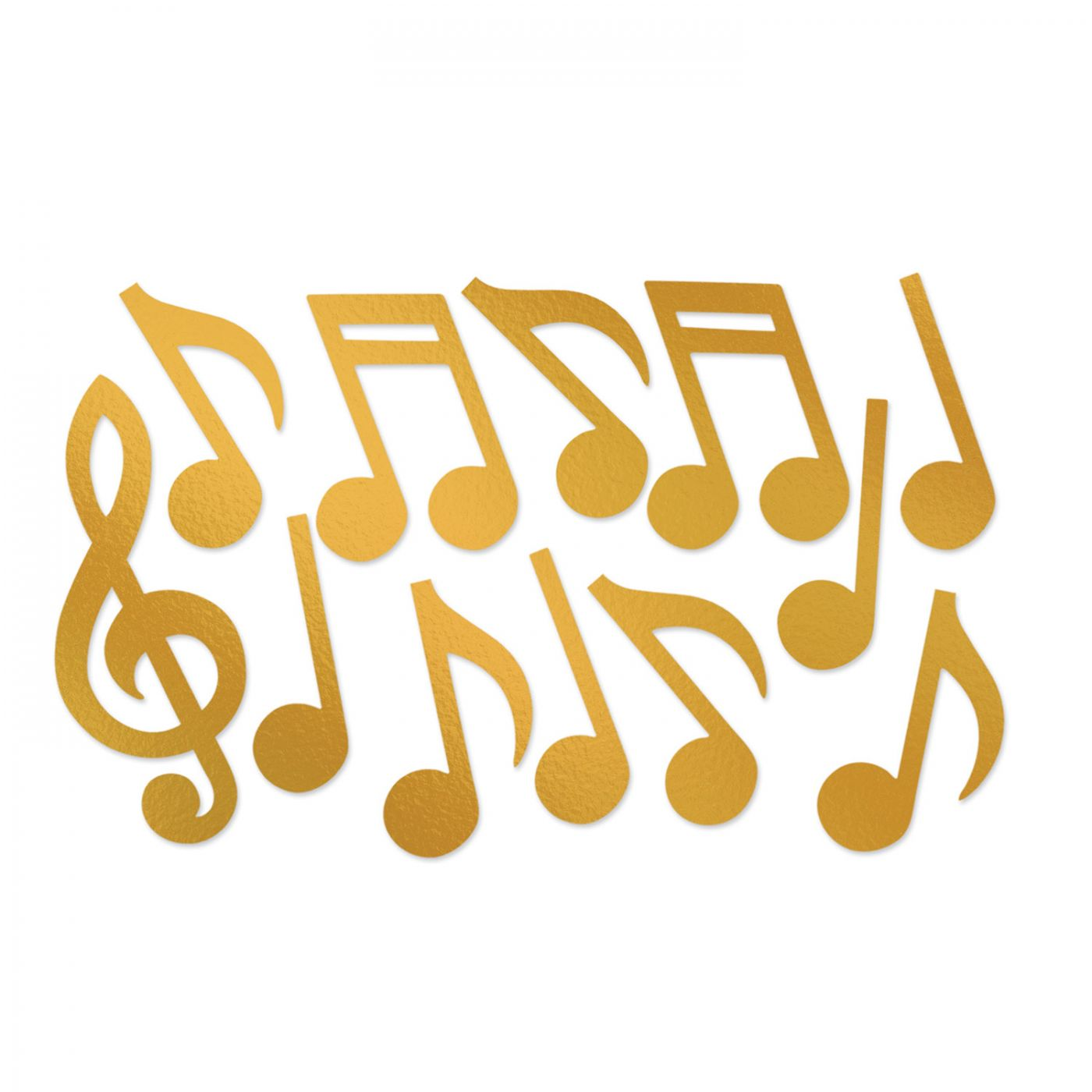 Gold Foil Musical Note Silhouettes image