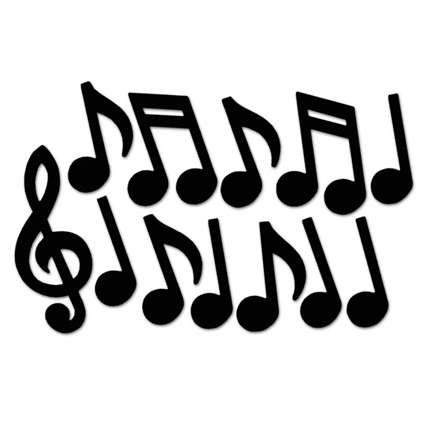 Musical Notes Silhouettes image