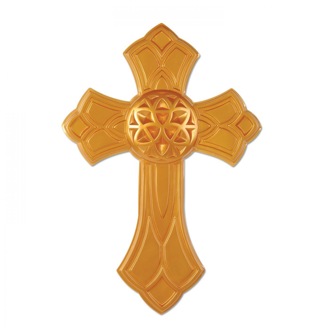 Gold Plastic Cross (24) image