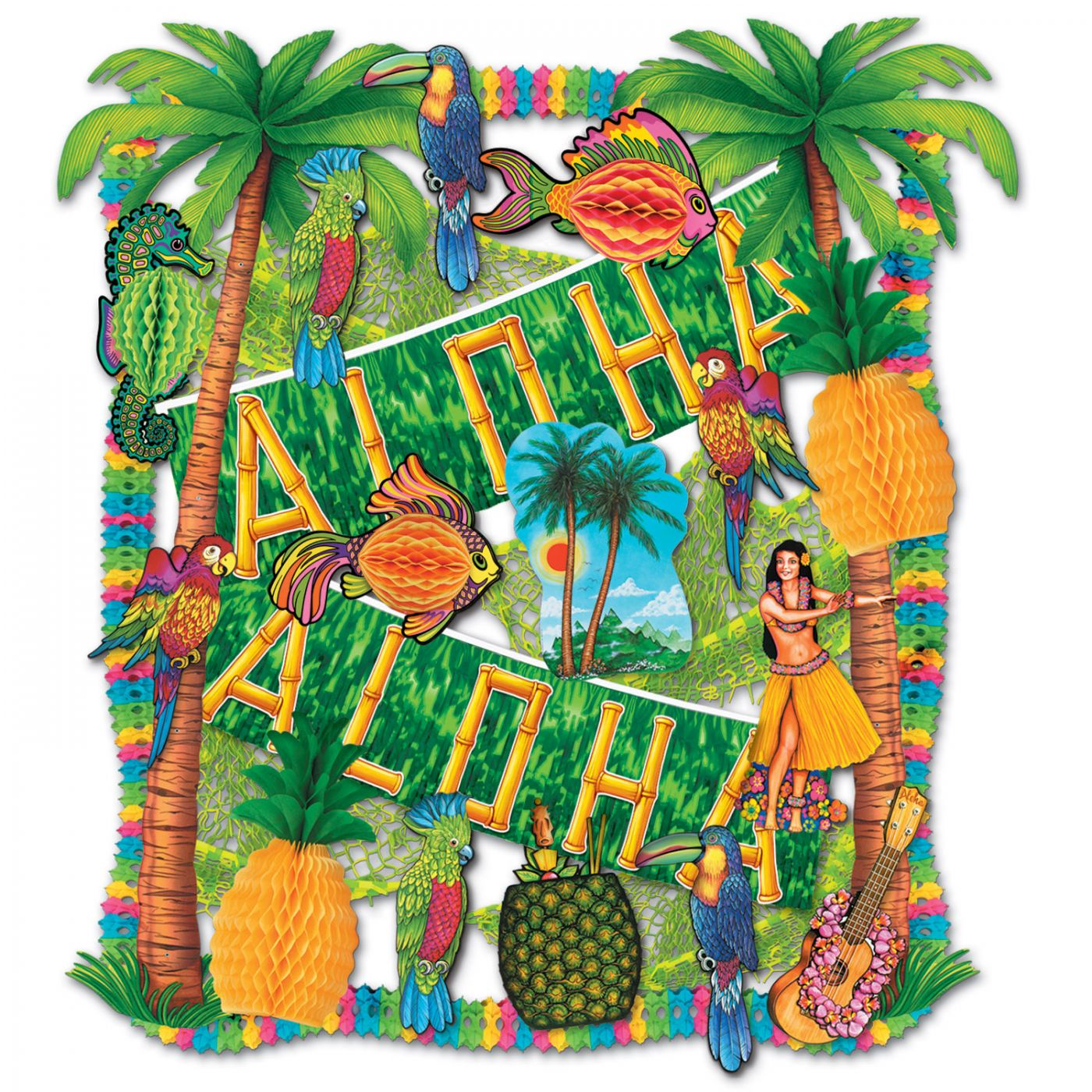 Luau Decorating Kit - 27 Pcs (1) image