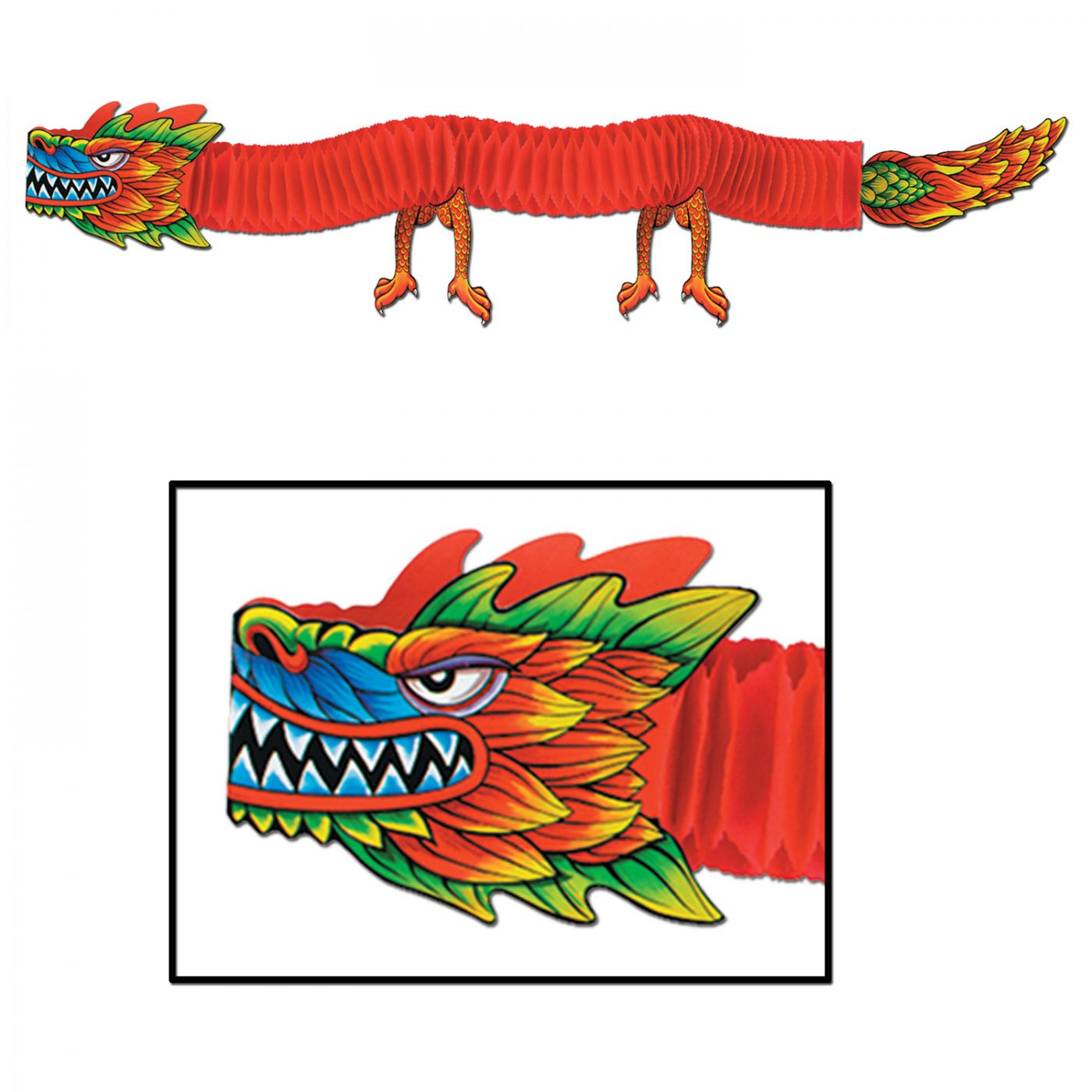 chinese new year asian tissue dragon party decoration