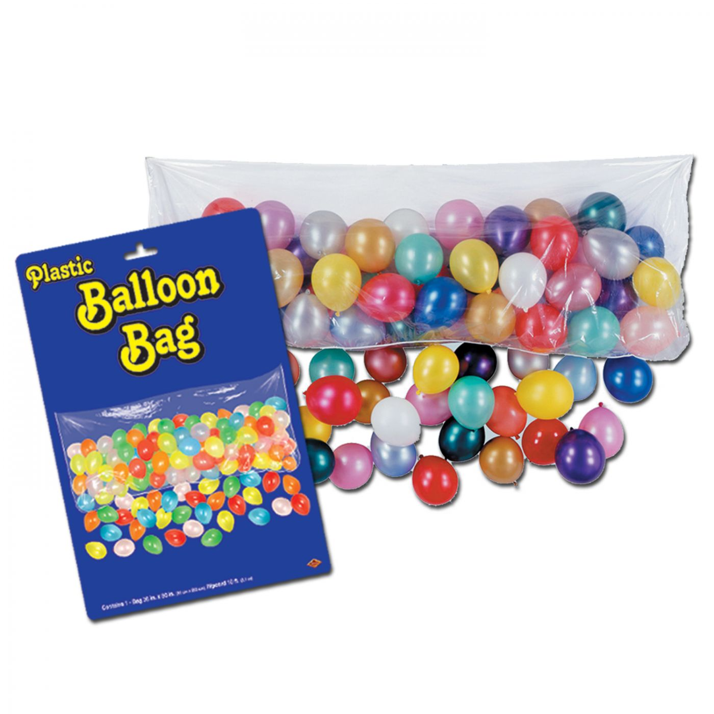 Plastic Balloon Bag w/100 Balloons image