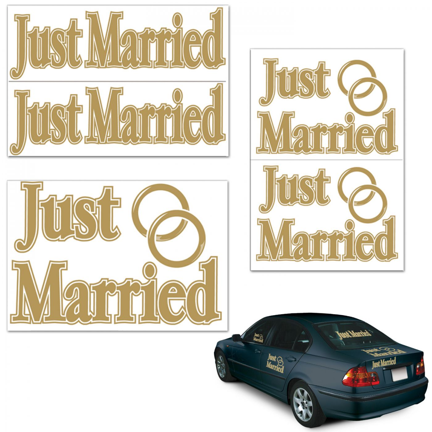 Just Married Auto-Clings image