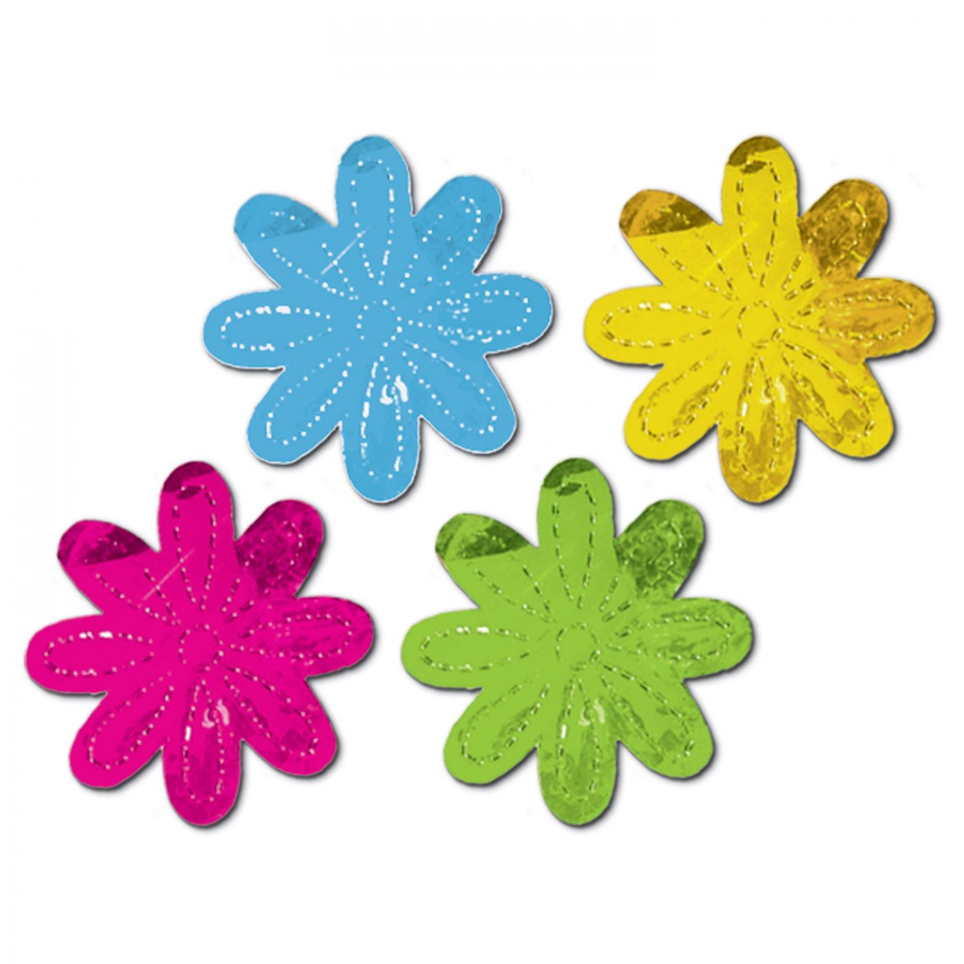 Metallic Flower Silhouettes image