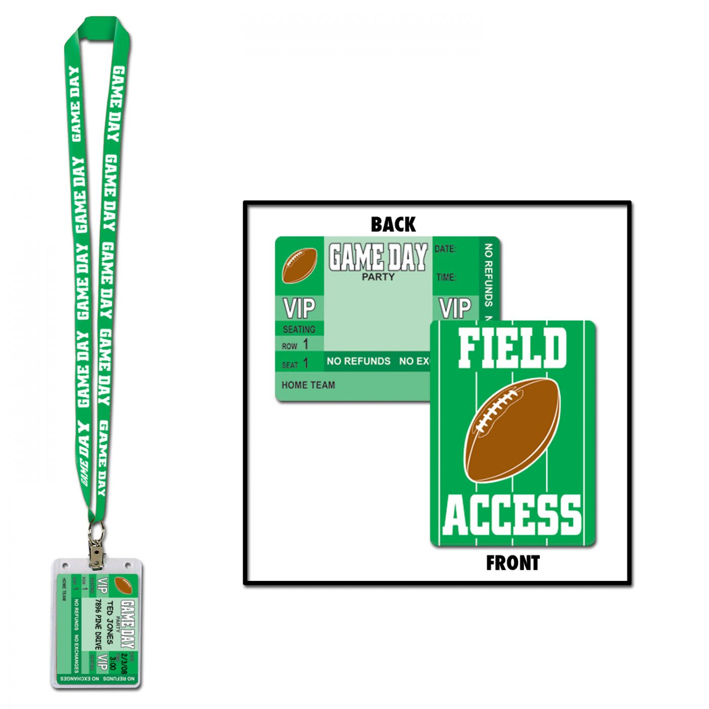Game Day Football Party Pass image