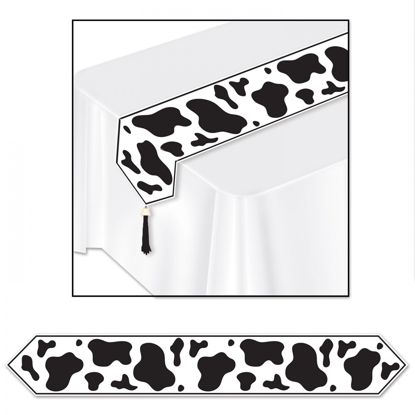 Printed Cow Print Table Runner image