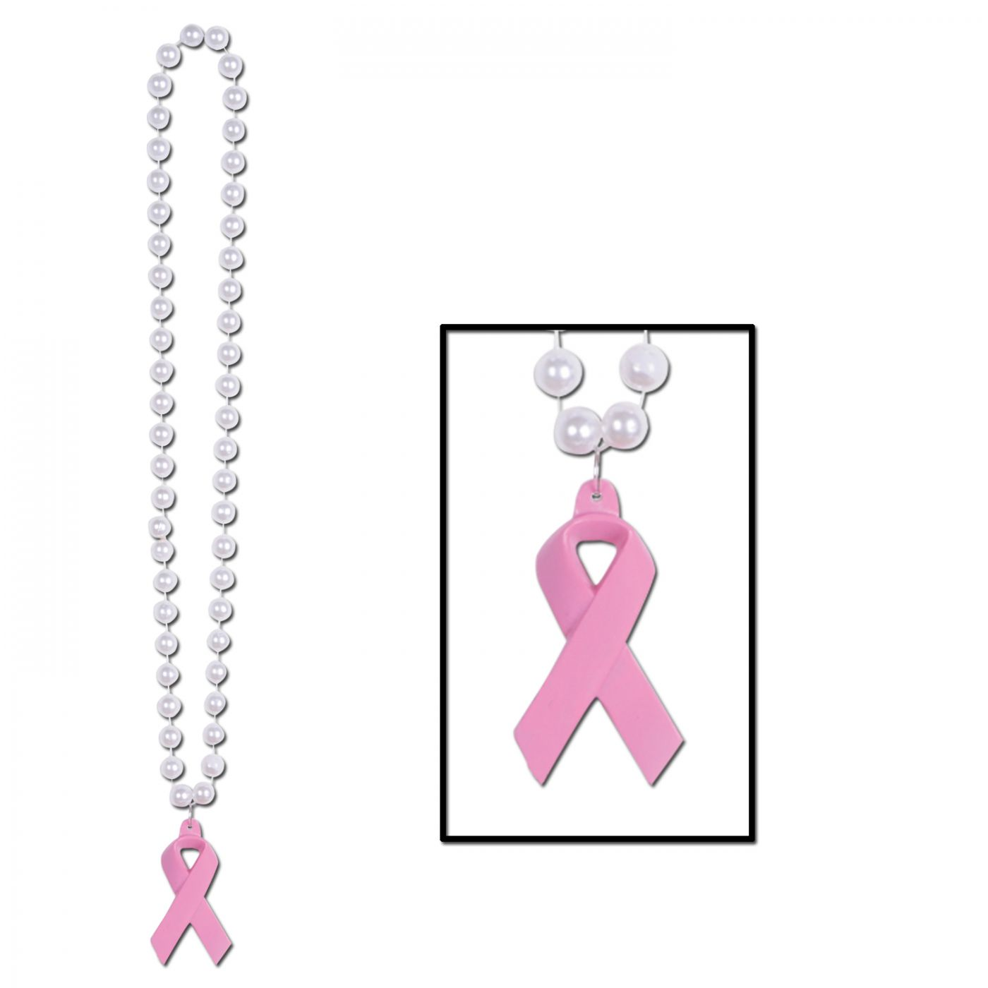 Beads w/Pink Ribbon Medallion image
